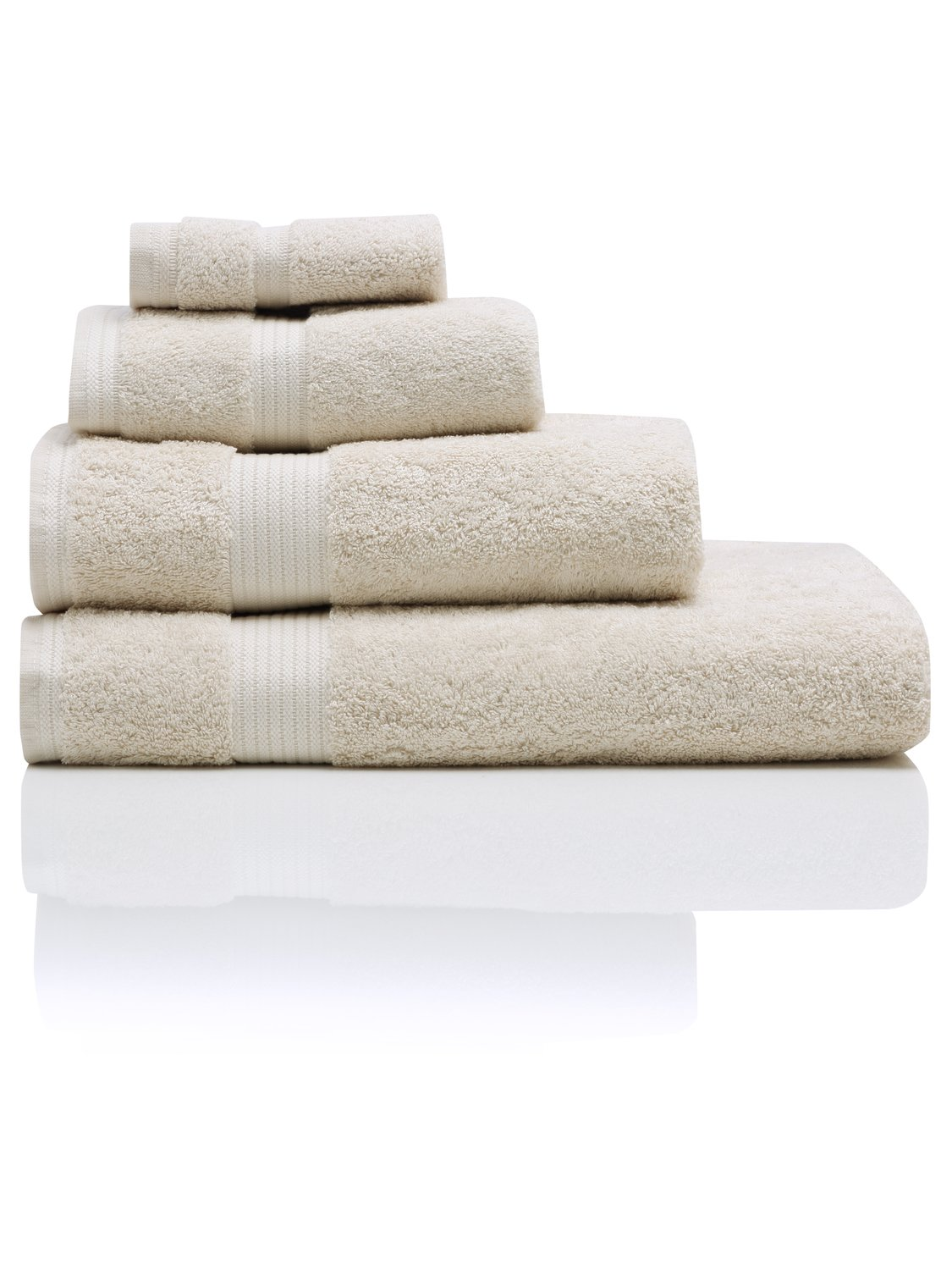 100% combed cotton 580gsm luxury soft and absorbent bath towel  - stone