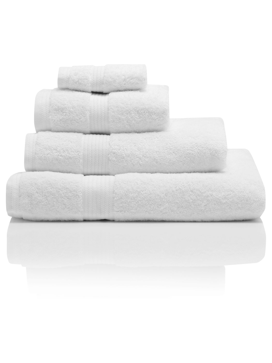 100% Combed Cotton 580Gsm Soft And Absorbent Bathroom Facecloth - White