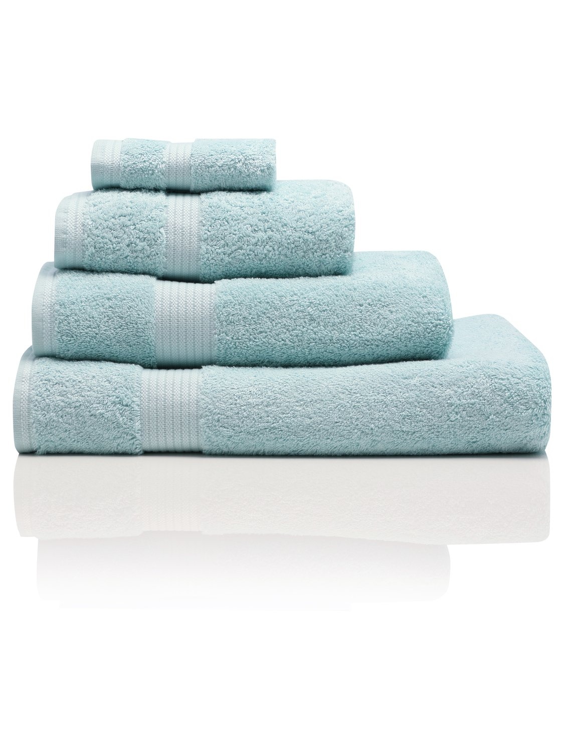 100% Combed Cotton 580Gsm Soft And Absorbent Bathroom Facecloth - Peppermint
