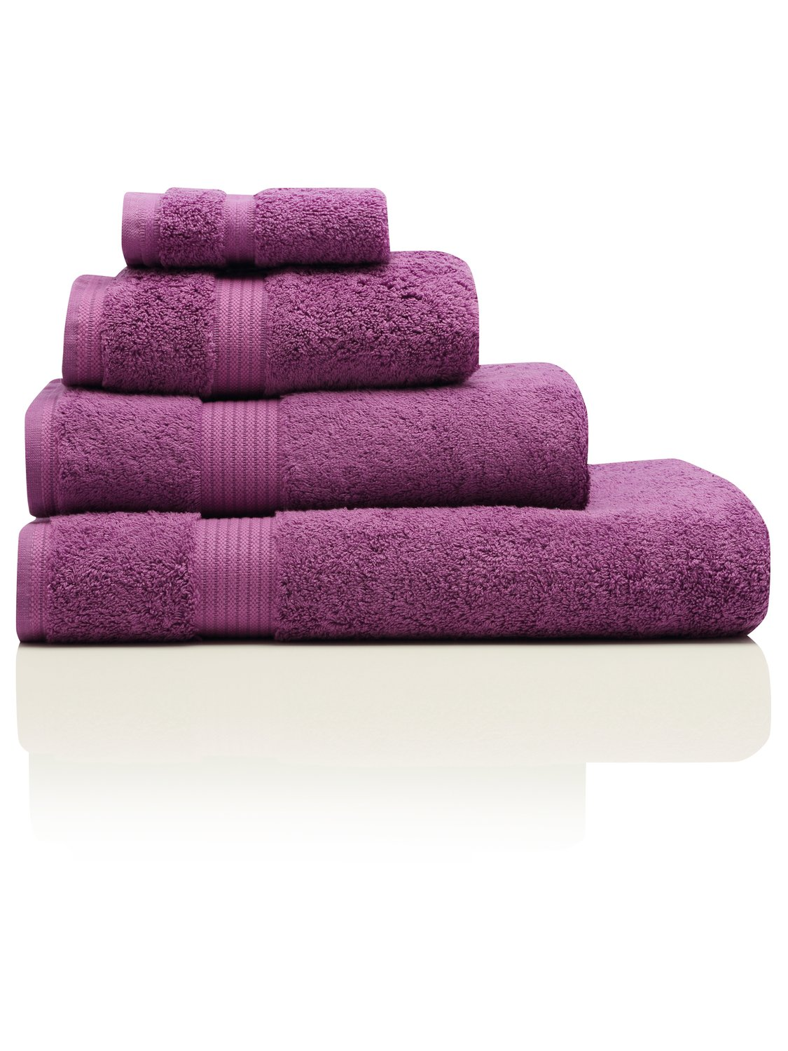 100% Combed Cotton 580Gsm Soft And Absorbent Bathroom Facecloth - Orchid