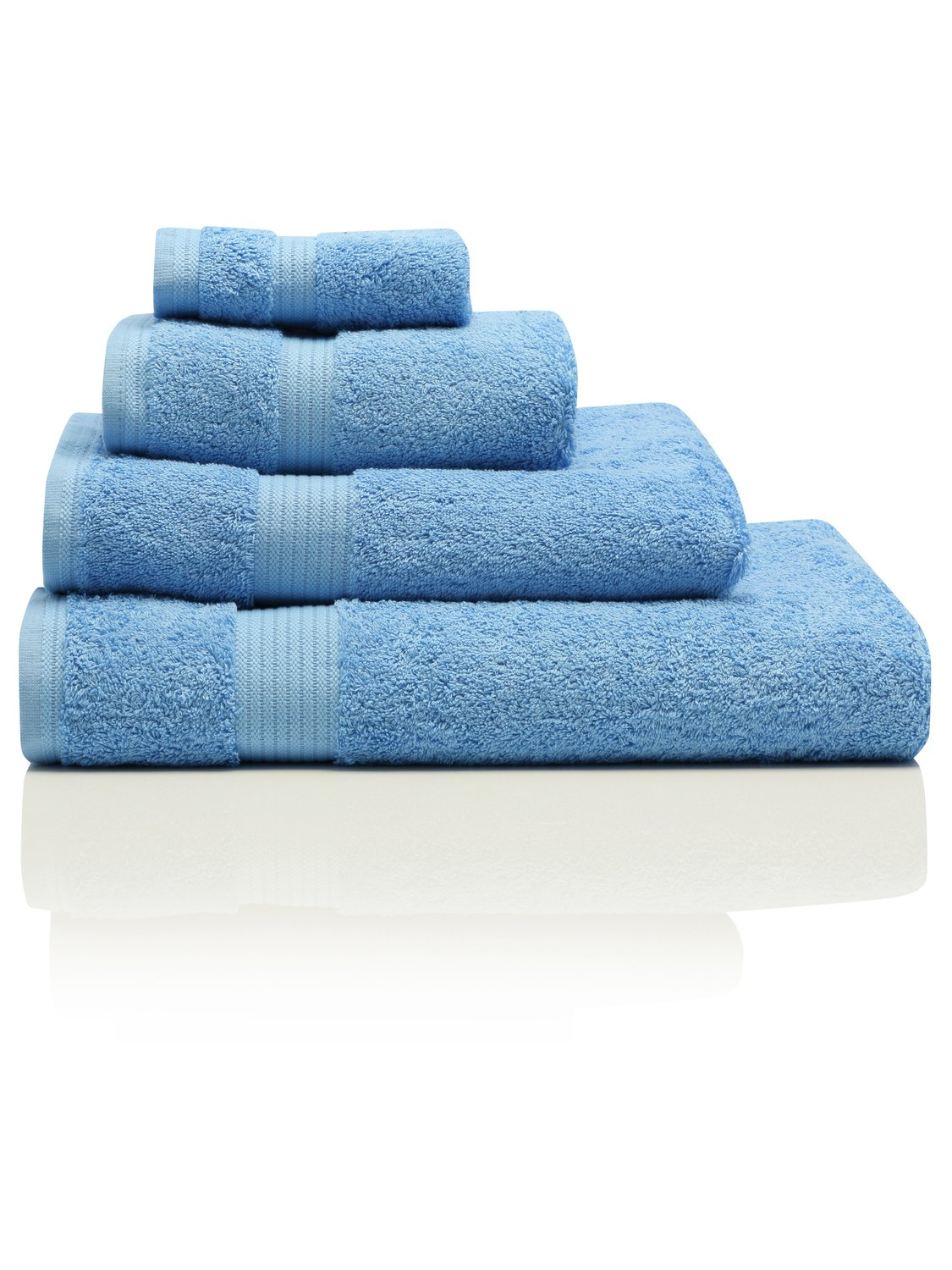 100% Combed Cotton 580Gsm Soft And Absorbent Bathroom Facecloth - Sea Blue