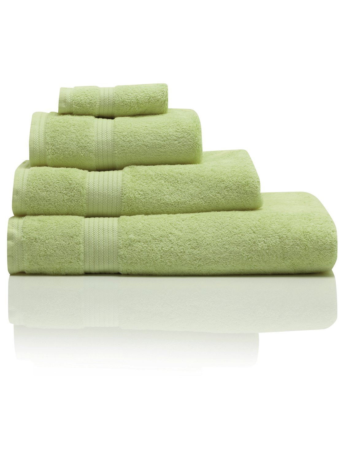 100% Combed Cotton 580Gsm Soft And Absorbent Bathroom Facecloth - Apple Green