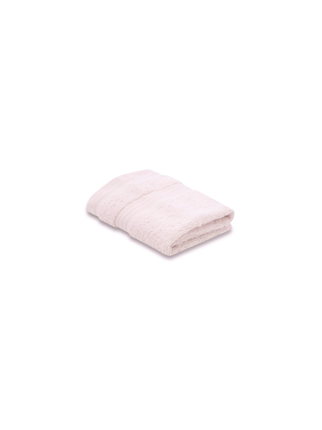 100% Combed Cotton 580Gsm Soft And Absorbent Bathroom Facecloth - Pale Pink