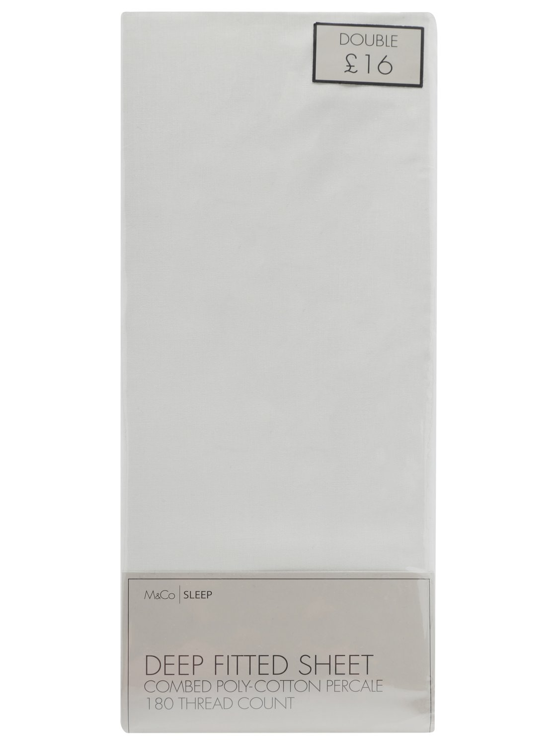 180 thread count fitted sheet for deeper mattresses - depth 15 inches  - cream
