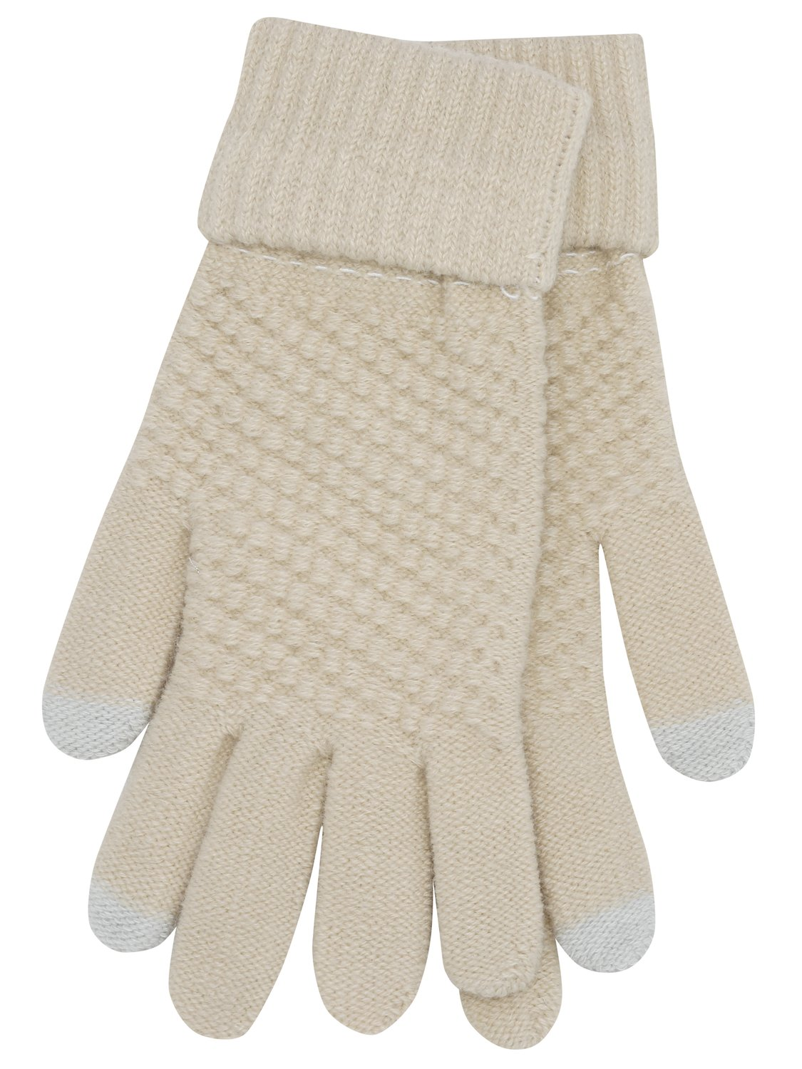 ladies touch screen knitted gloves smart phone and tablet compatible one size stretch fit  - camel