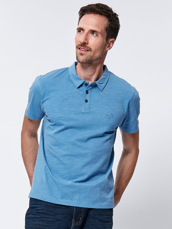 Short Sleeve Polo Shirt - Blue