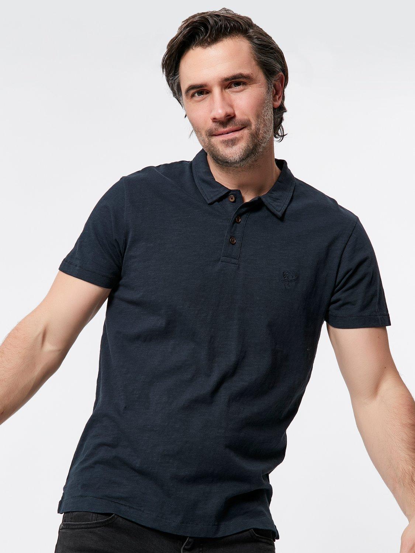 Short Sleeve Polo Shirt - Navy