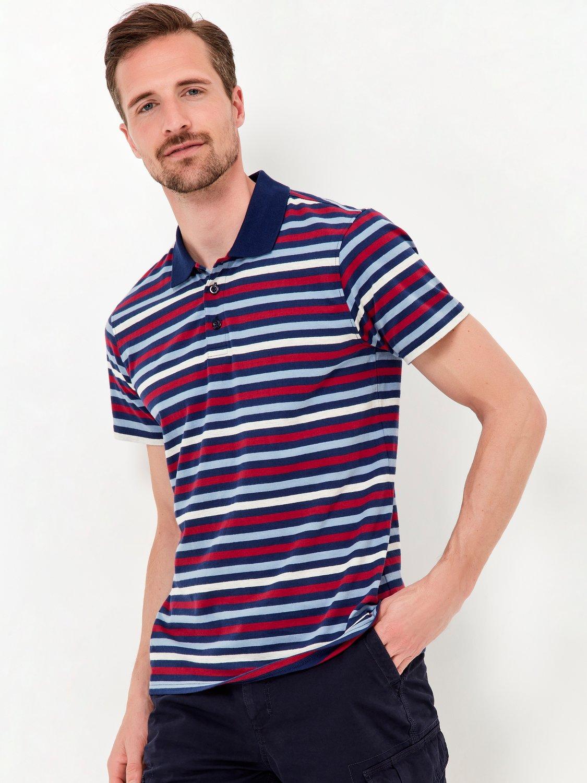 Stripe Polo Shirt - Navy