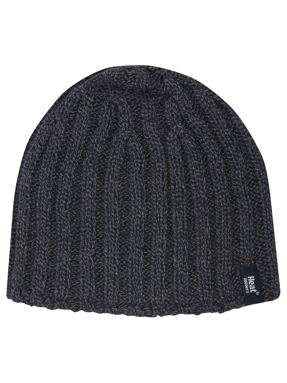 Mens Plain Navy Soft And Cosy Twist Knit Thermal Winter Beanie Hat   Navy
