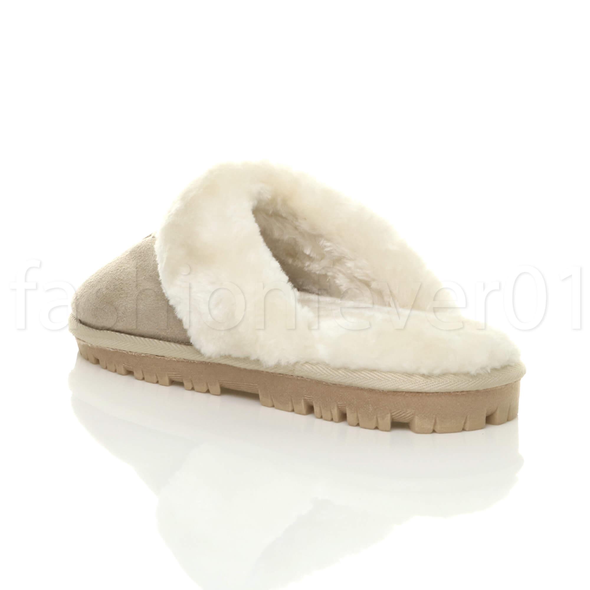 Womens Ladies Winter Fur Lined Luxury Comfortable Gift Snug Slipper Sizes 3-8 UK