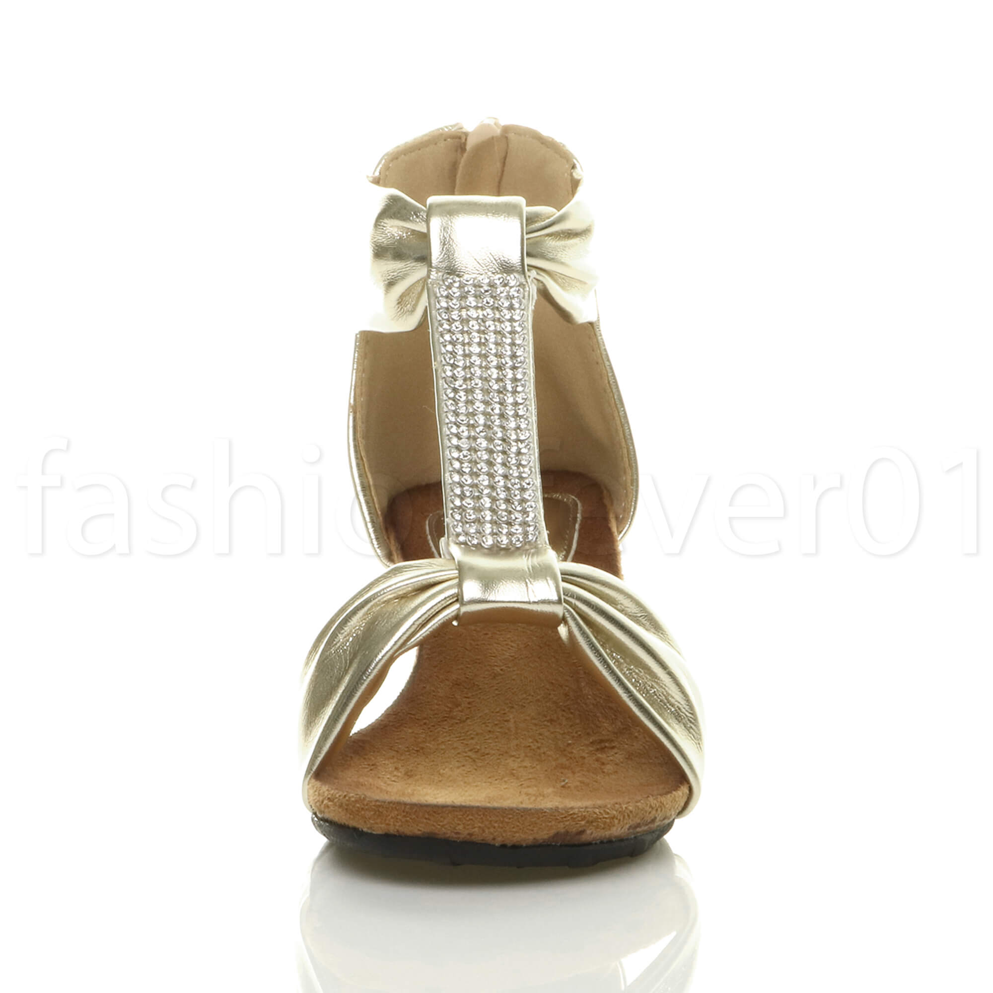 WOMENS-LADIES-MID-HEEL-WEDGE-ZIP-T-BAR-STRAPPY-DIAMANTE-SUMMER-PARTY-SANDALS