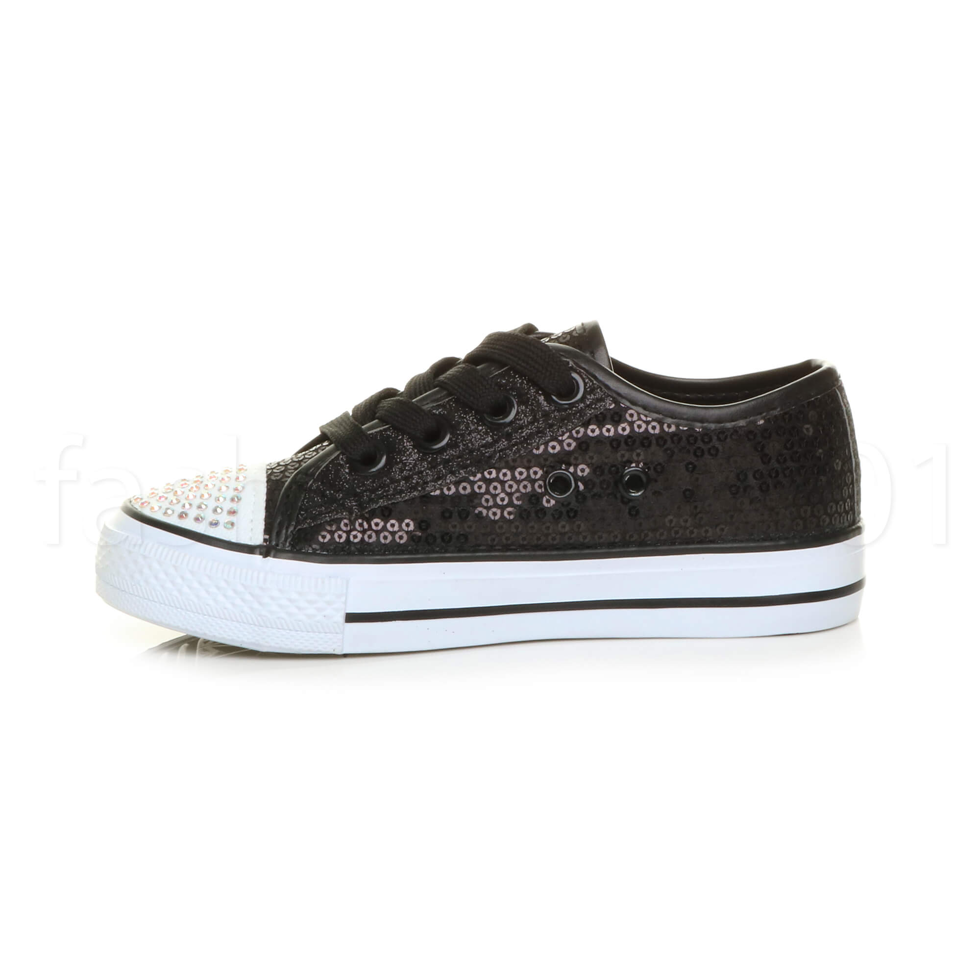 GIRLS-KIDS-CHILDRENS-SPARKLY-SEQUIN-GLITTER-PARTY-PLIMSOLLS-TRAINERS-SHOES-SIZE