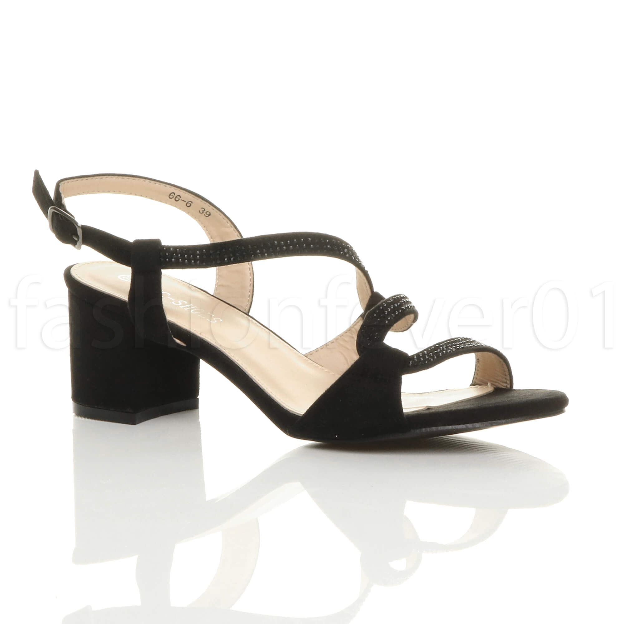 1e4a700a787 WOMENS LADIES MID BLOCK HEEL CUT OUT STRAPPY SLINGBACK PARTY SANDALS SIZE 6  39