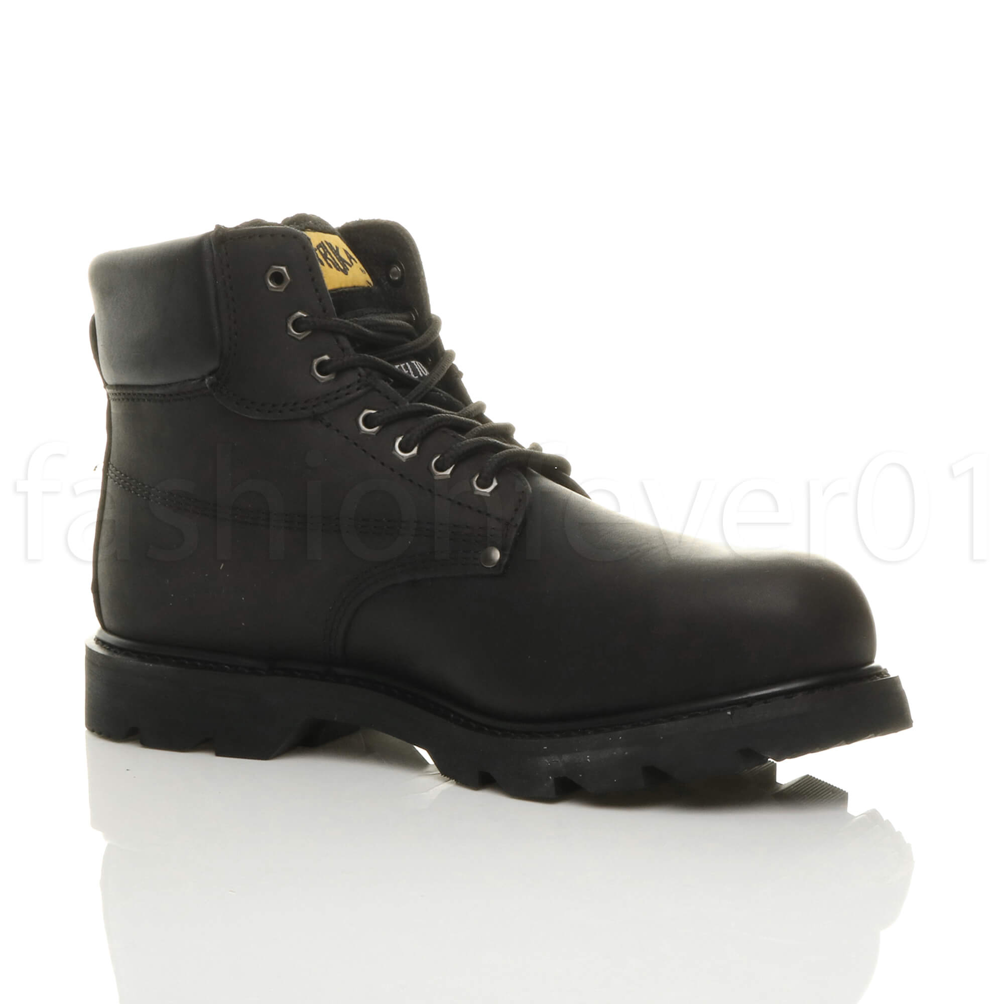 MENS ROUND STEEL TOE CAPPED LACE UP WORK SAFETY OIL RESISTANT BOOTS SIZE 13 47