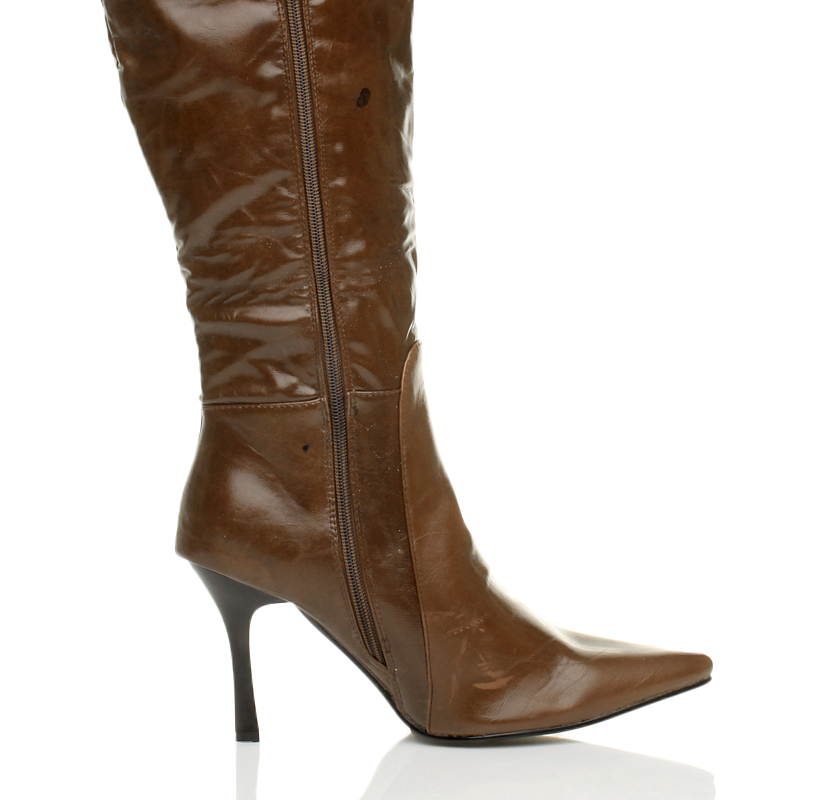 WOMENS-LADIES-OVER-THE-KNEE-ELASTIC-STRETCH-PULL-ON-ZIP-HIGH-LOW-HEEL-BOOTS-SIZE