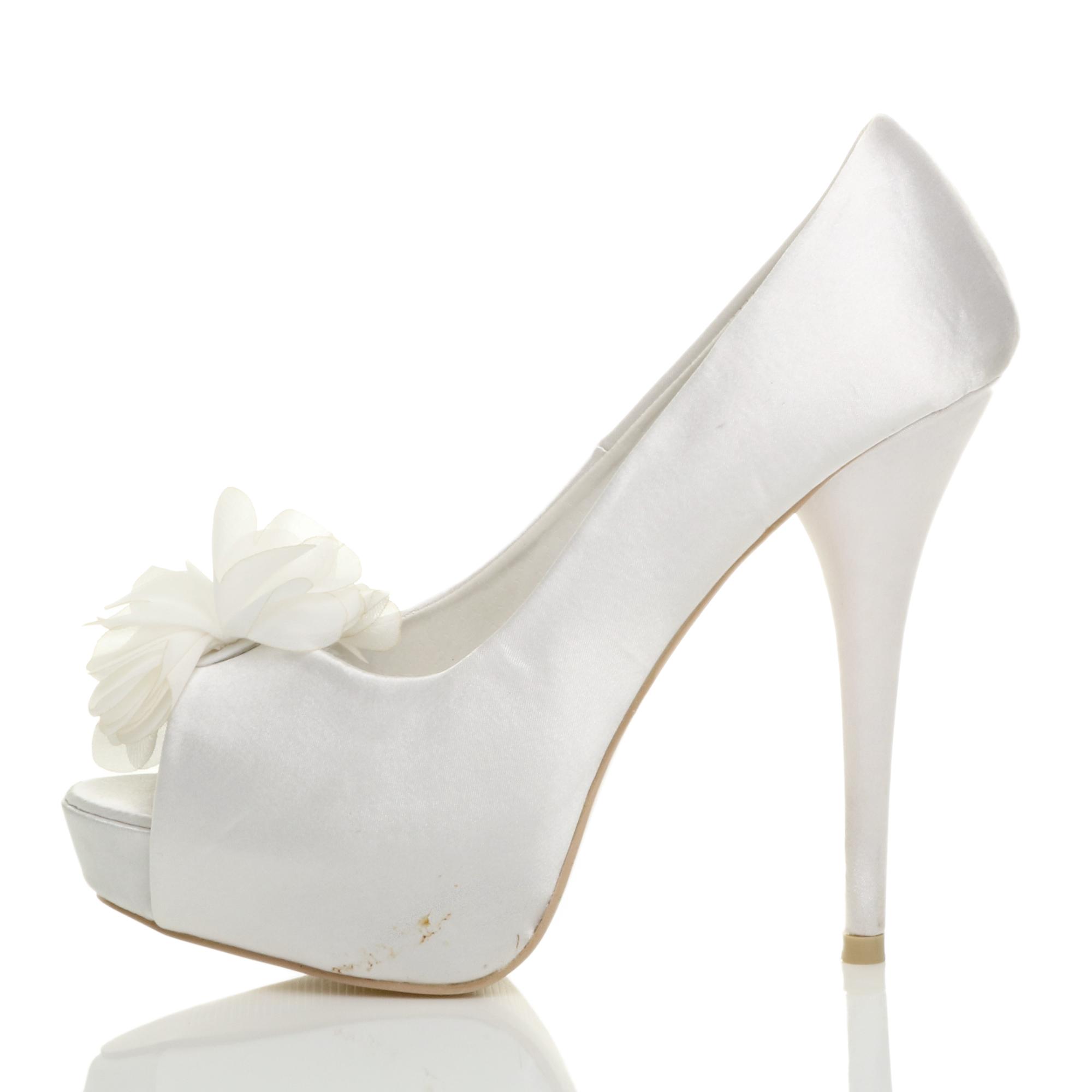 WOMENS-LADIES-HIGH-HEEL-WEDDING-BRIDAL-EVENING-PROM-PLATFORM-COURT-SHOES-SIZE