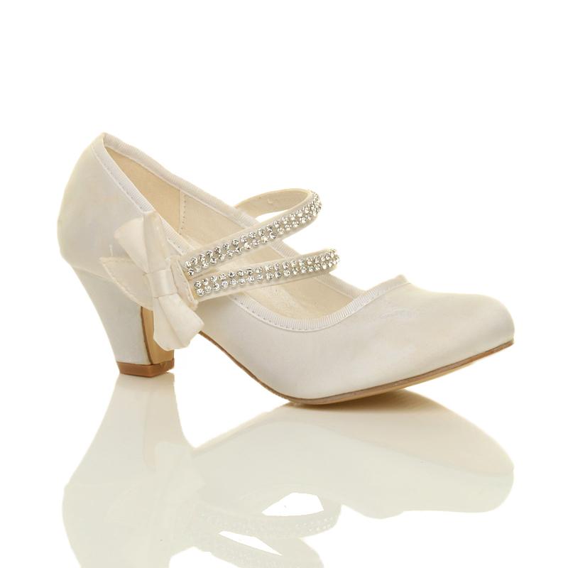 childrens low heel bridesmaid