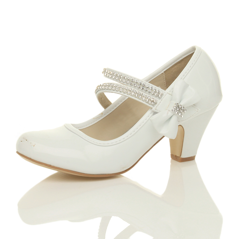White Evening Shoes Low Heel