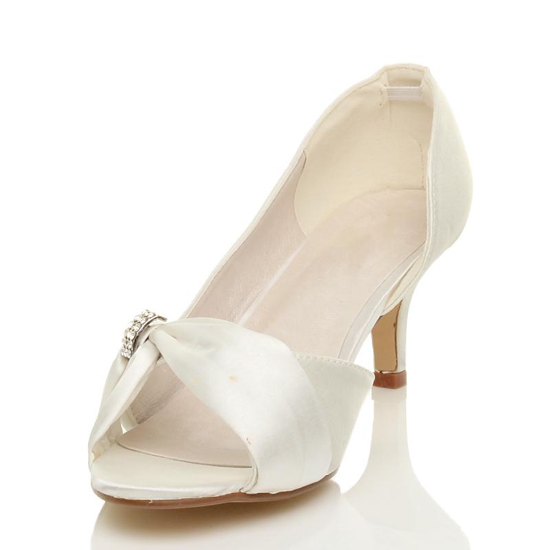 Mujer-Damas-Tacon-Bajo-Medio-Boda-noche-Graduacion-Fiesta-Nupcial-Sandalias-Punta-Abierta-Zapatos