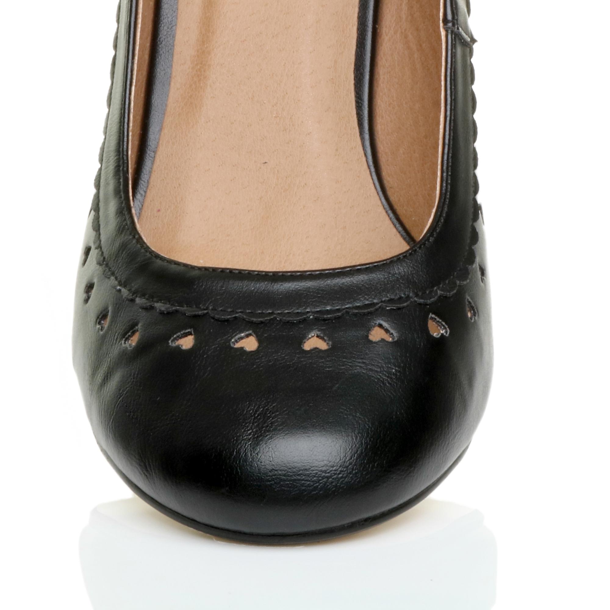 miniatura 9 - Da Donna con Tacco Basso Cinturino Alla Caviglia Mary Jane Stile Scarpe Eleganti Lavoro Pompe Dimensione