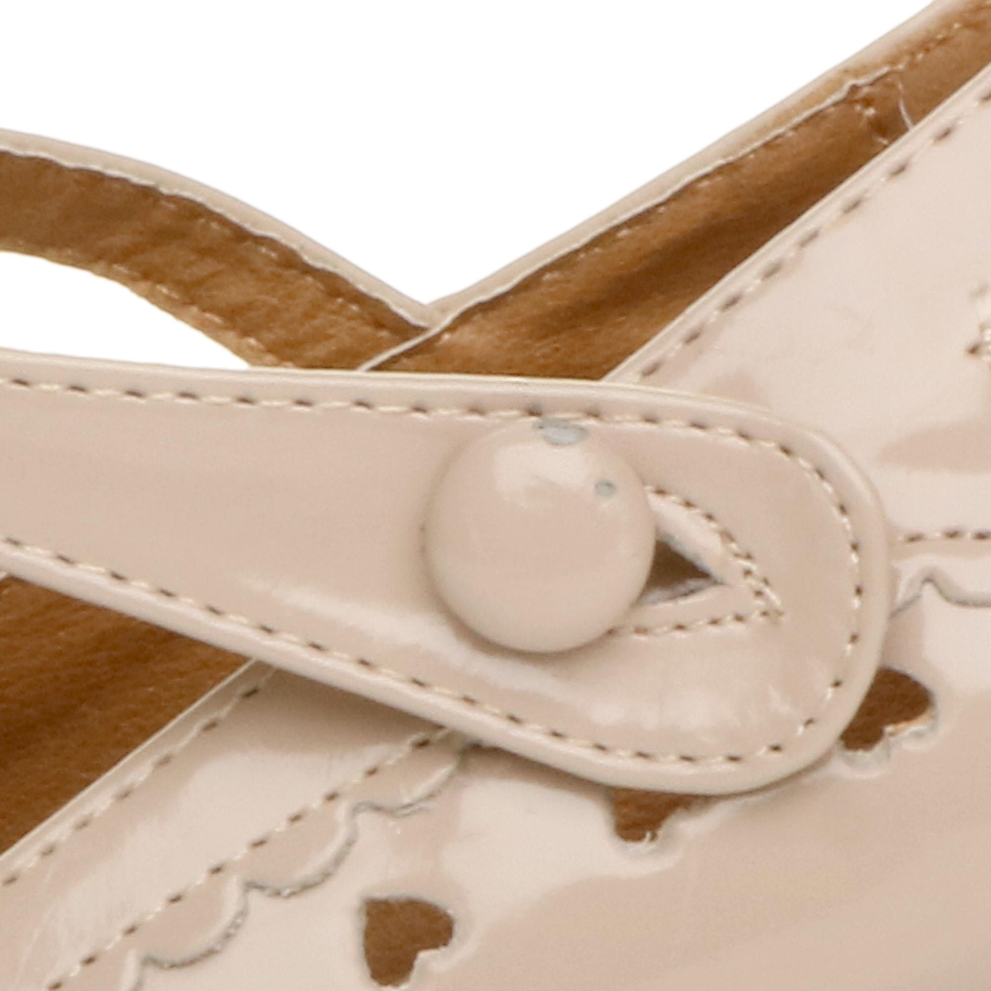 miniatura 17 - Da Donna con Tacco Basso Cinturino Alla Caviglia Mary Jane Stile Scarpe Eleganti Lavoro Pompe Dimensione