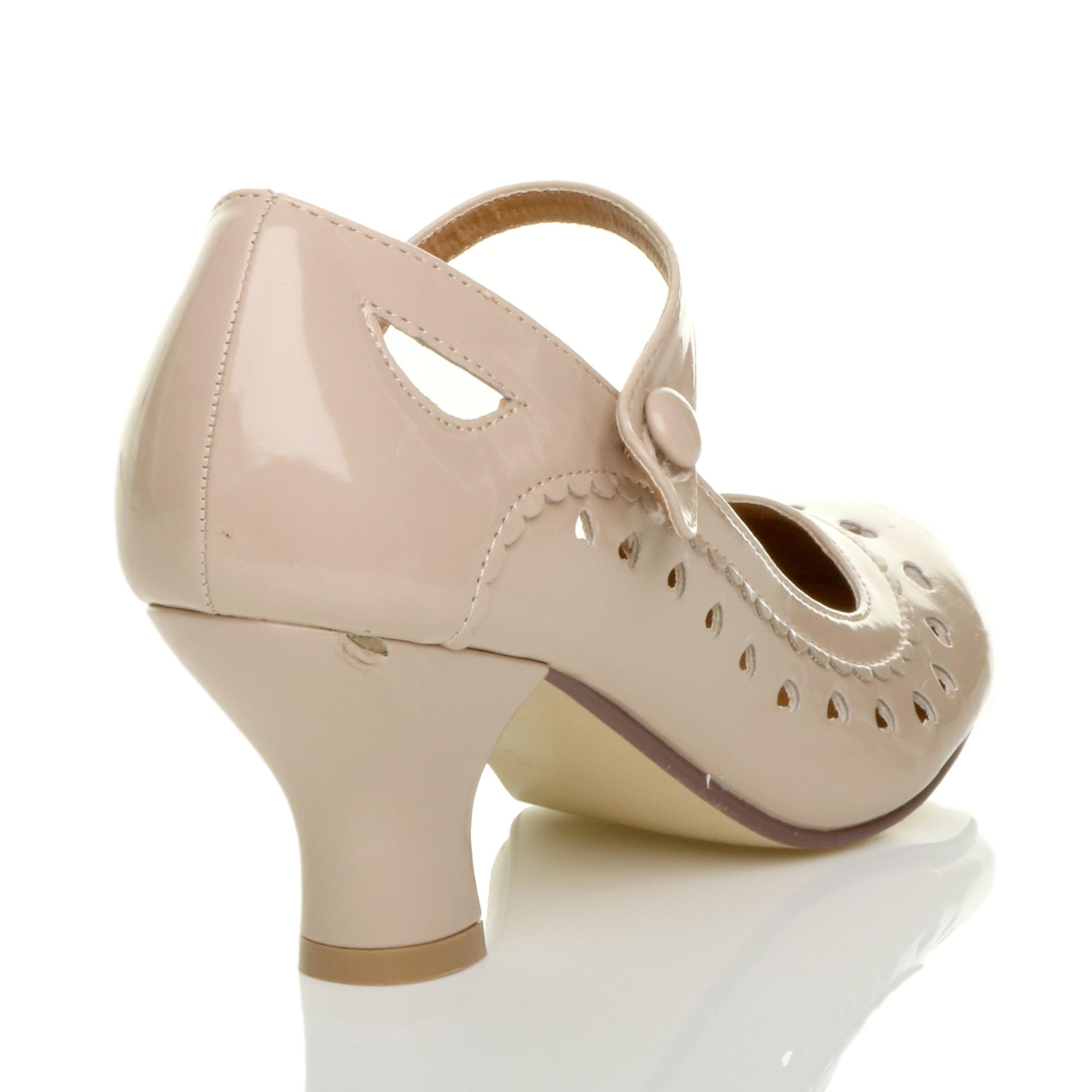 miniatura 18 - Da Donna con Tacco Basso Cinturino Alla Caviglia Mary Jane Stile Scarpe Eleganti Lavoro Pompe Dimensione