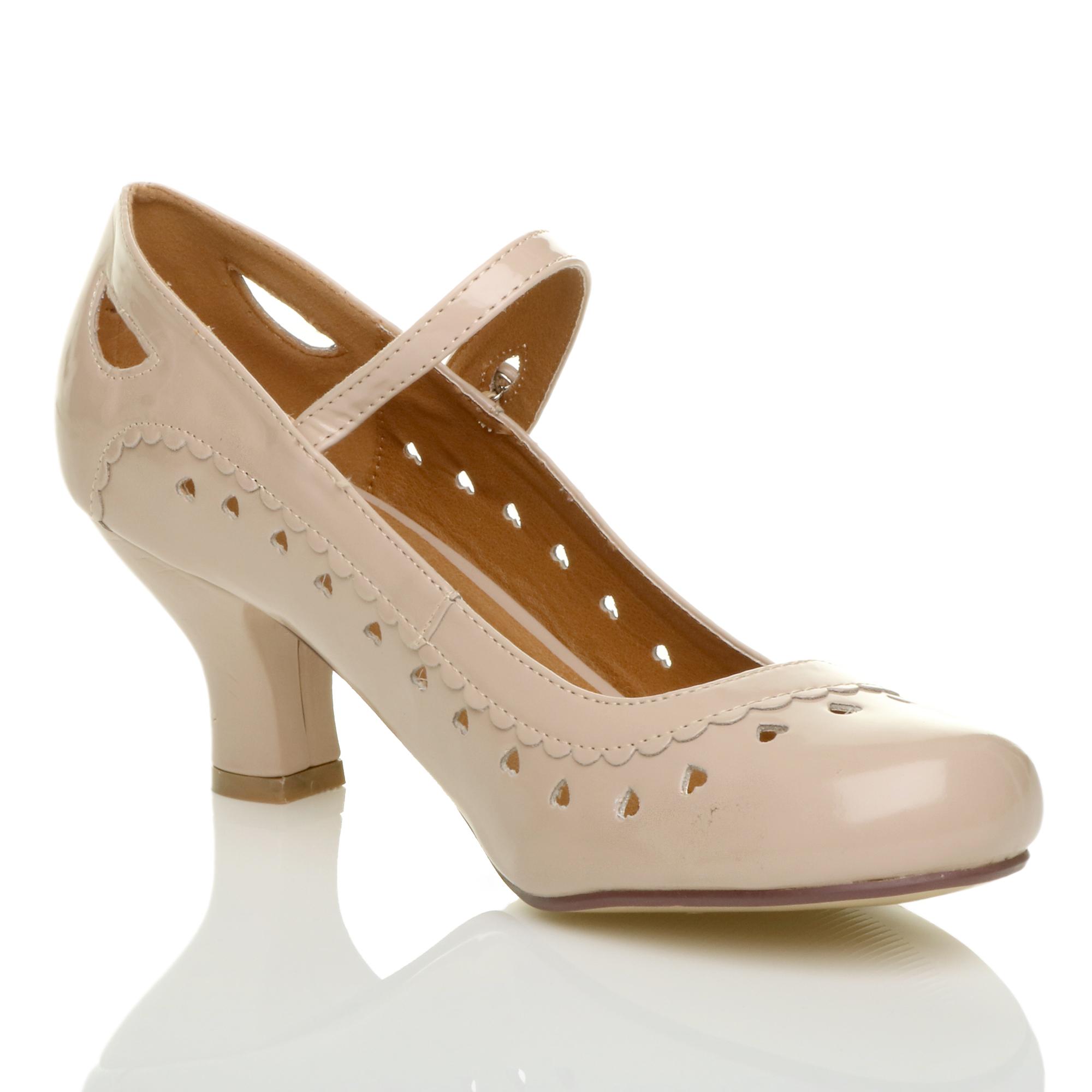 miniatura 20 - Da Donna con Tacco Basso Cinturino Alla Caviglia Mary Jane Stile Scarpe Eleganti Lavoro Pompe Dimensione