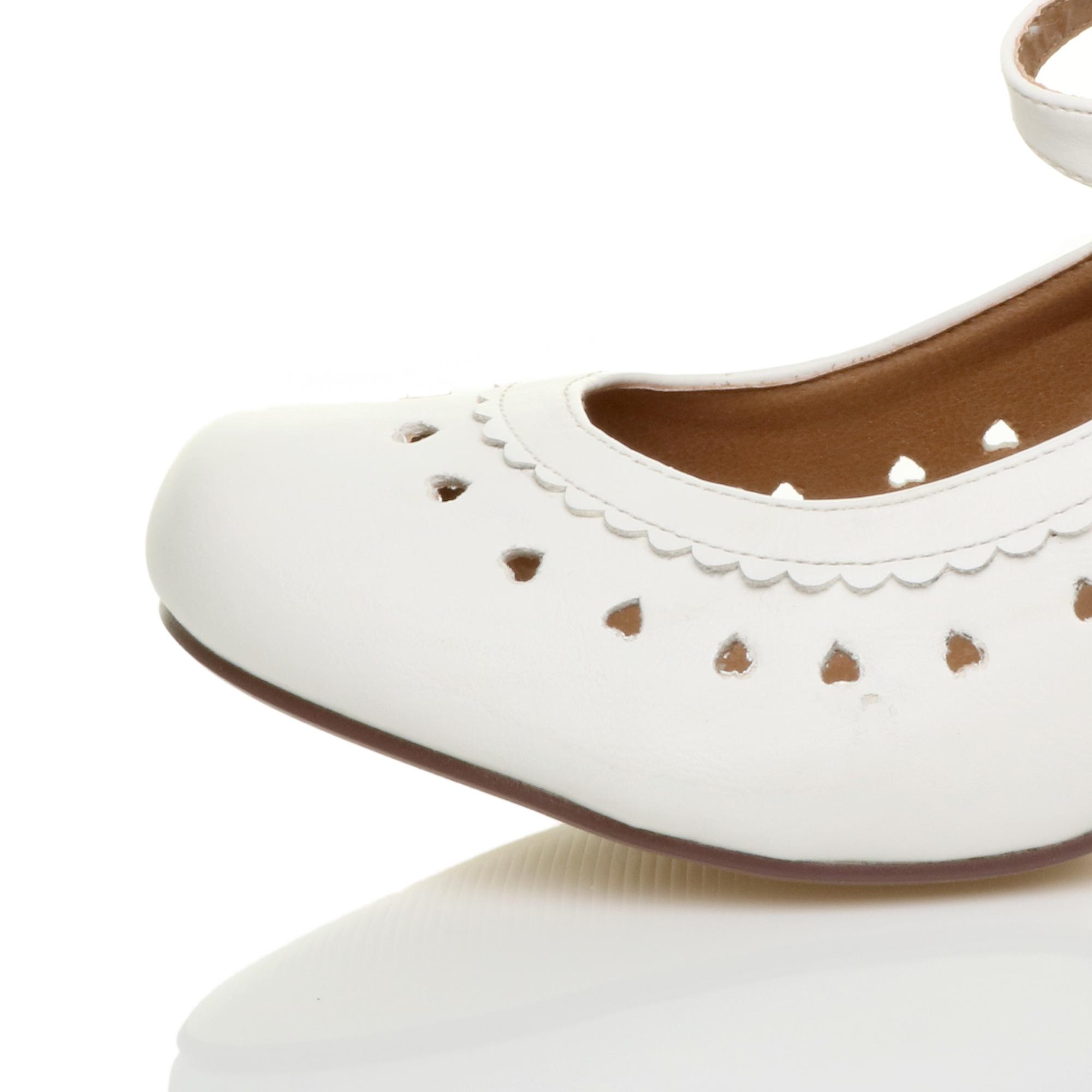miniatura 22 - Da Donna con Tacco Basso Cinturino Alla Caviglia Mary Jane Stile Scarpe Eleganti Lavoro Pompe Dimensione