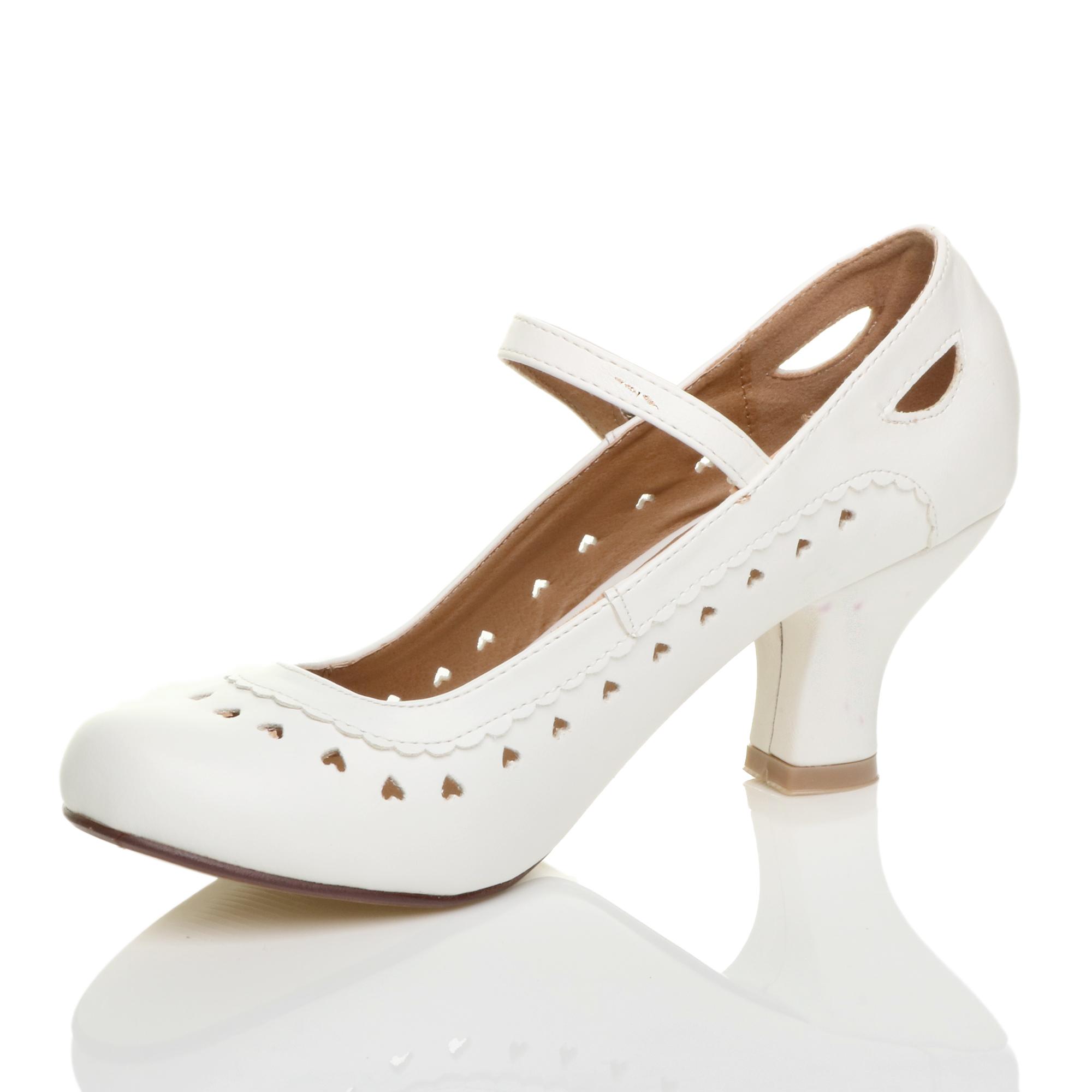 miniatura 23 - Da Donna con Tacco Basso Cinturino Alla Caviglia Mary Jane Stile Scarpe Eleganti Lavoro Pompe Dimensione