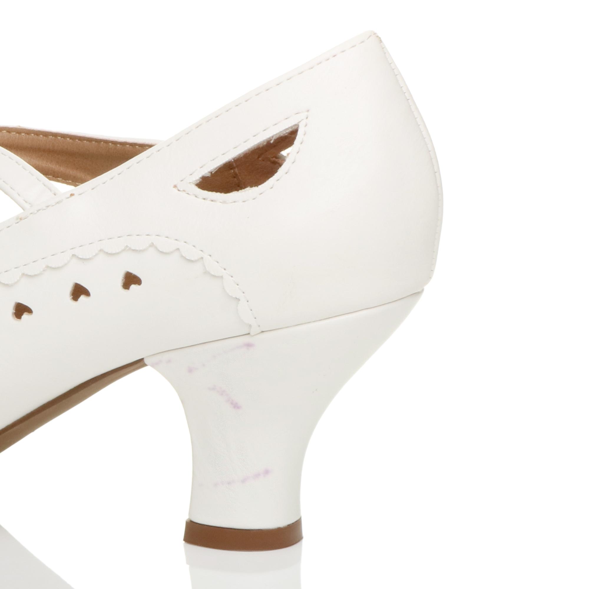 miniatura 24 - Da Donna con Tacco Basso Cinturino Alla Caviglia Mary Jane Stile Scarpe Eleganti Lavoro Pompe Dimensione
