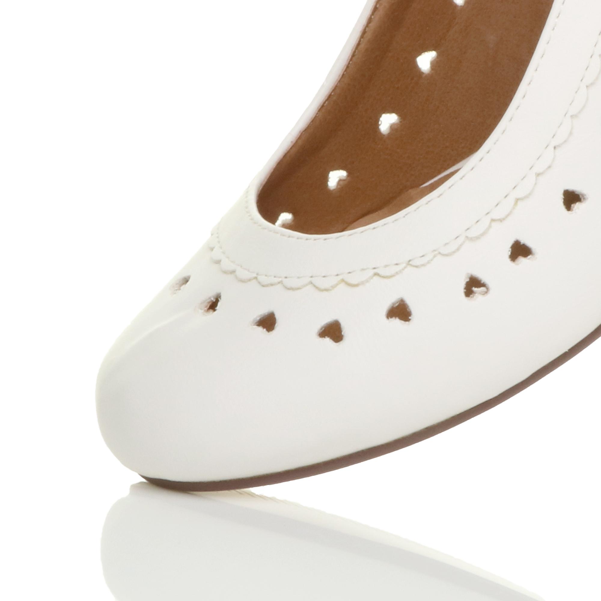 miniatura 25 - Da Donna con Tacco Basso Cinturino Alla Caviglia Mary Jane Stile Scarpe Eleganti Lavoro Pompe Dimensione