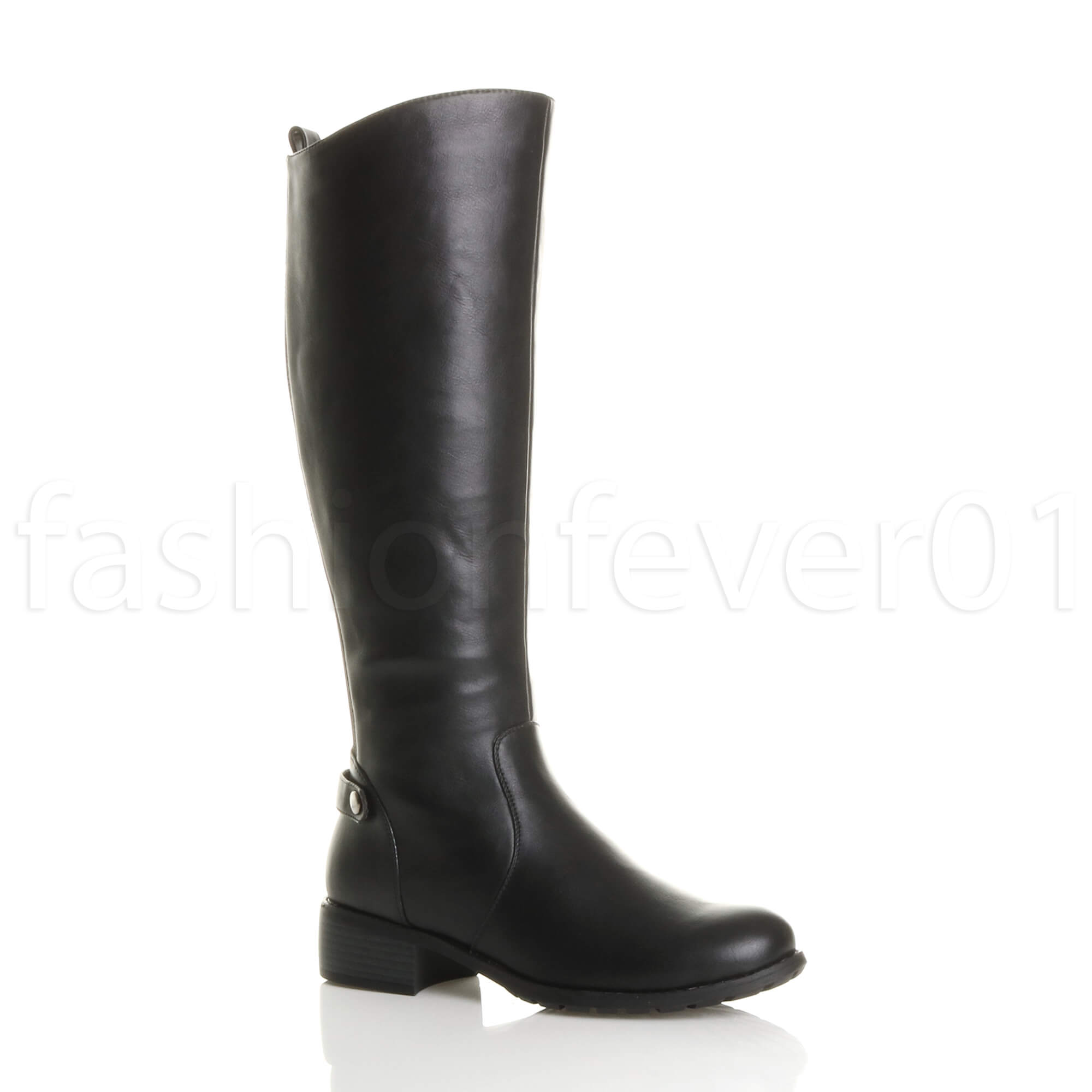 2d08c0fcb5a814 Womens Ladies Low Mid Heel Gusset Stretch Chelsea Zip Calf Riding BOOTS Size  UK 3 / EU 36 / US 5 Black Matte. About this product. Picture 1 of 7;  Picture 2 ...