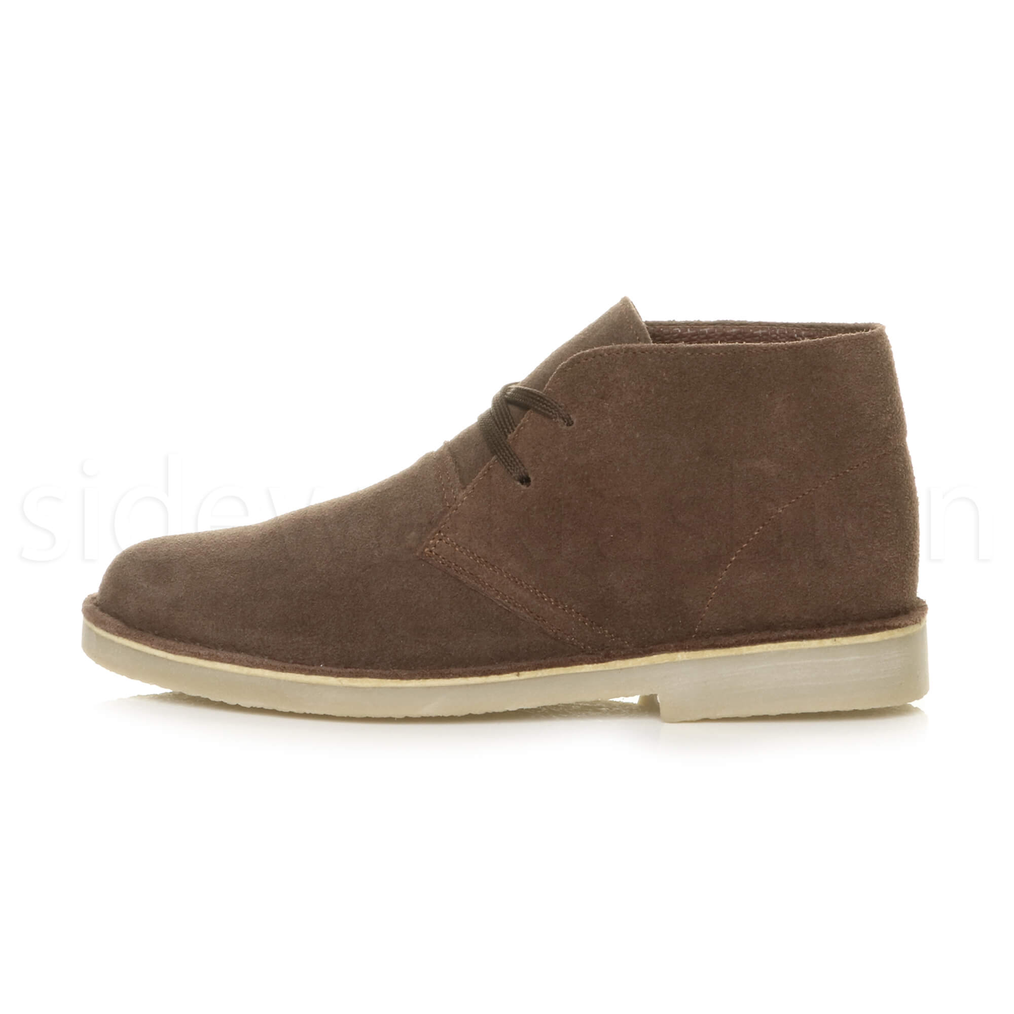 Mens-lace-up-rubber-sole-suede-ankle-chukka-desert-boots-classic-shoes-size thumbnail 10