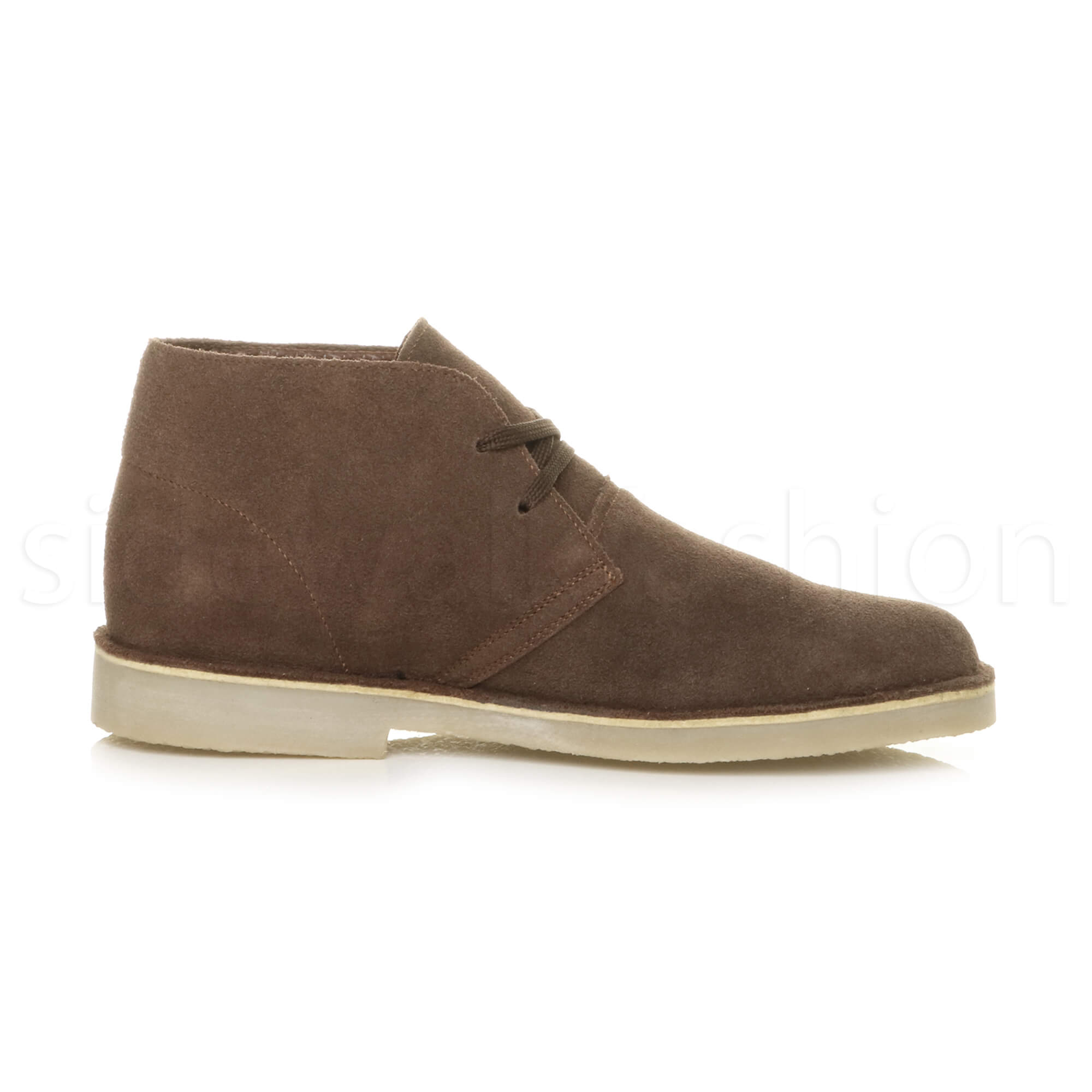 Mens-lace-up-rubber-sole-suede-ankle-chukka-desert-boots-classic-shoes-size thumbnail 11
