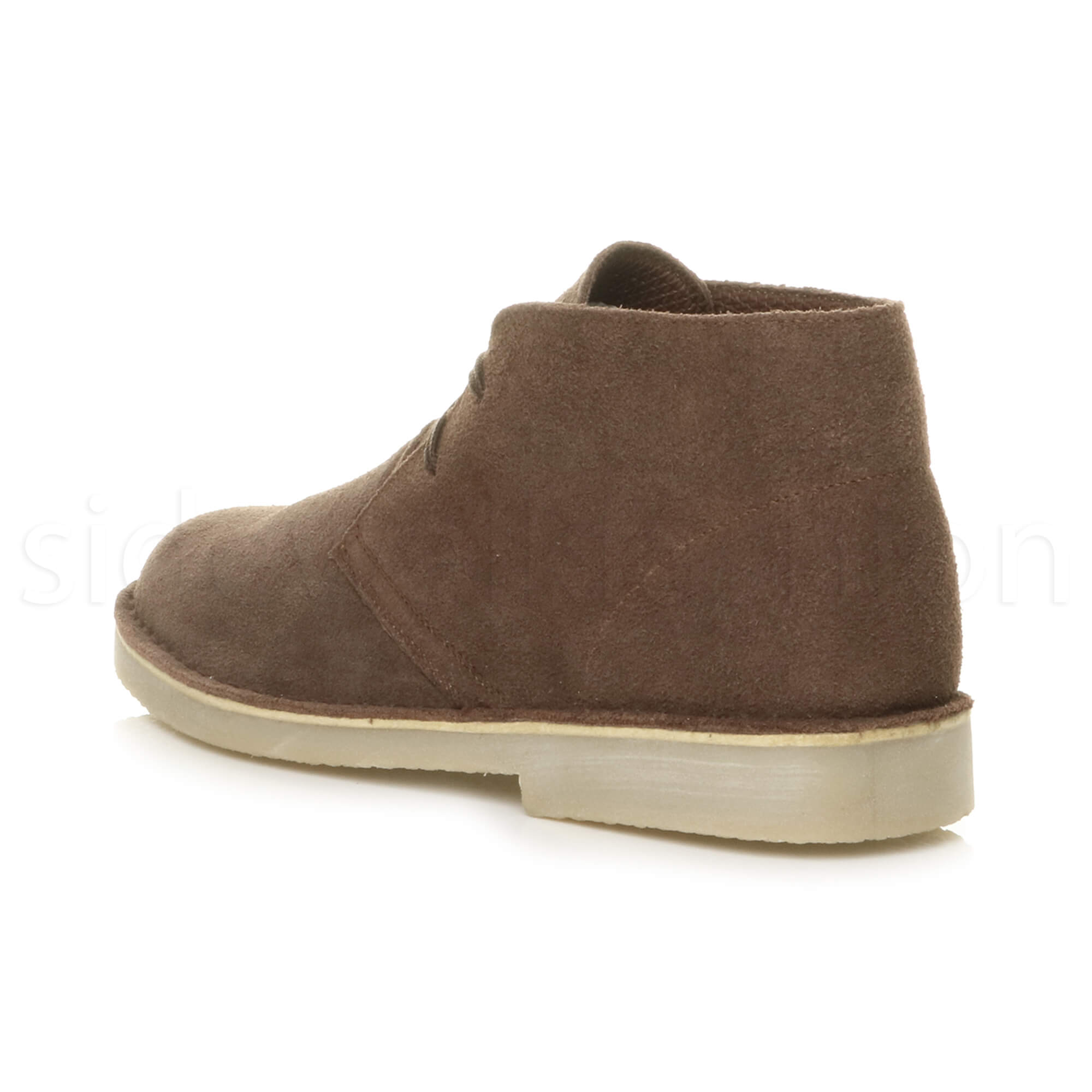Mens-lace-up-rubber-sole-suede-ankle-chukka-desert-boots-classic-shoes-size thumbnail 12