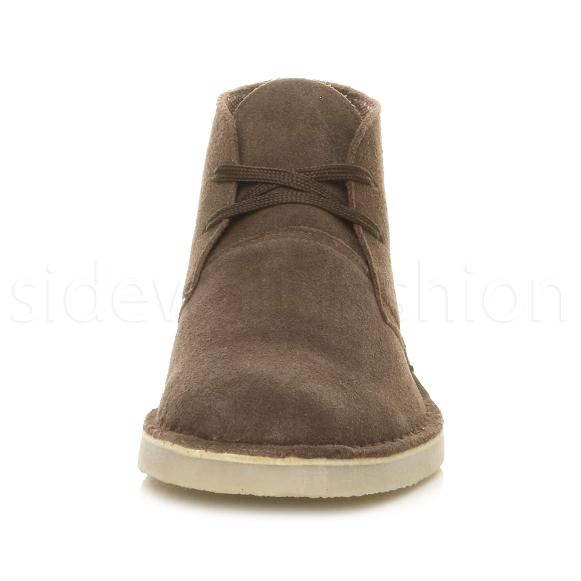 Mens-lace-up-rubber-sole-suede-ankle-chukka-desert-boots-classic-shoes-size thumbnail 13