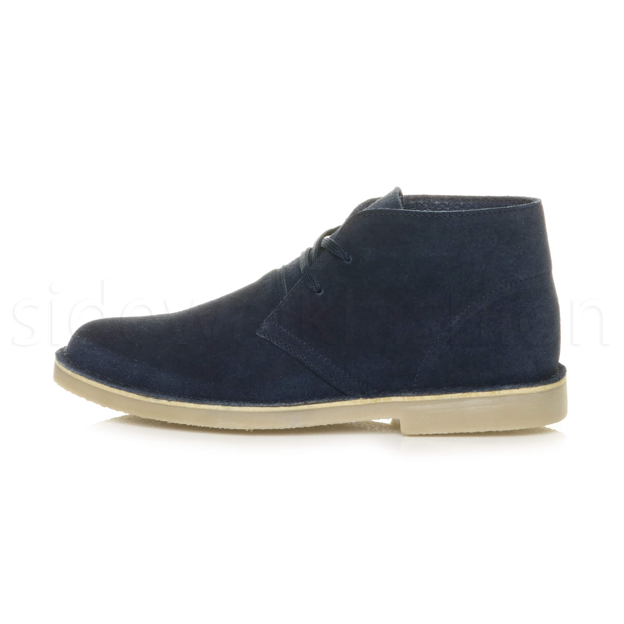 Mens-lace-up-rubber-sole-suede-ankle-chukka-desert-boots-classic-shoes-size thumbnail 17