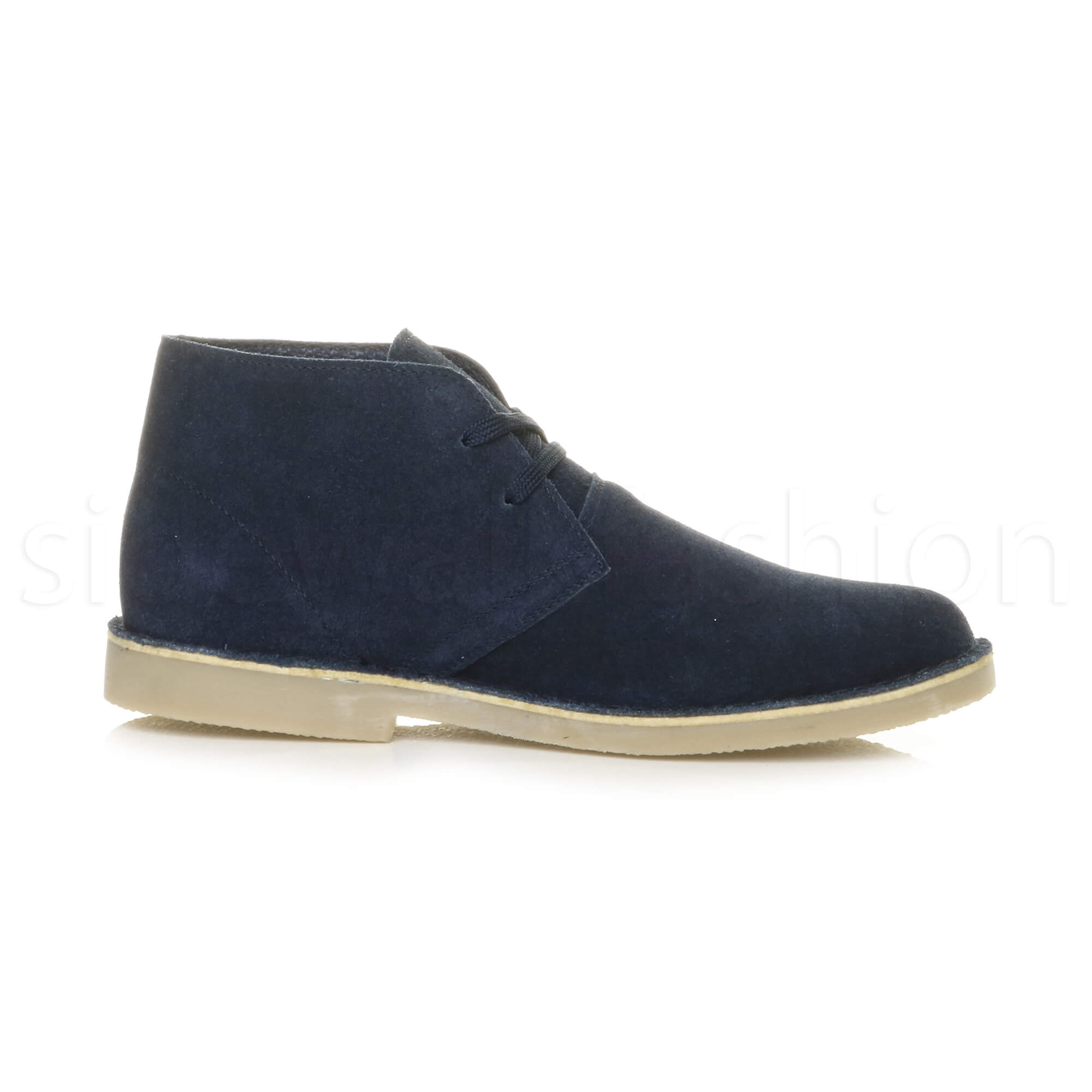 Mens-lace-up-rubber-sole-suede-ankle-chukka-desert-boots-classic-shoes-size thumbnail 18