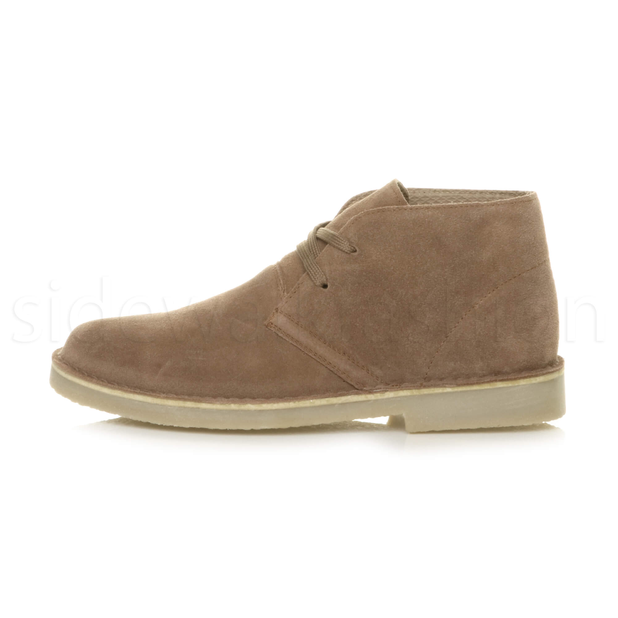 Mens-lace-up-rubber-sole-suede-ankle-chukka-desert-boots-classic-shoes-size thumbnail 32