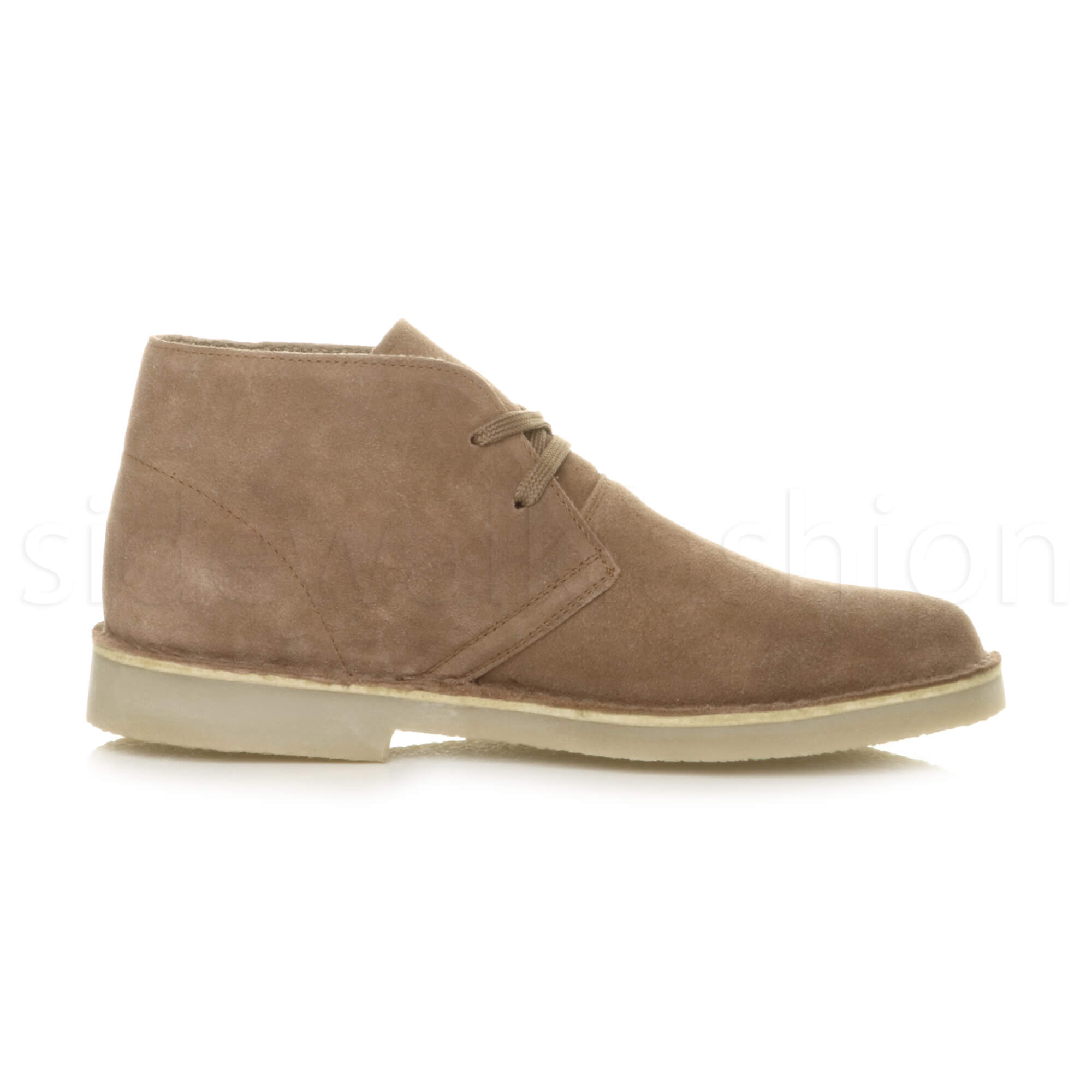 Mens-lace-up-rubber-sole-suede-ankle-chukka-desert-boots-classic-shoes-size thumbnail 33