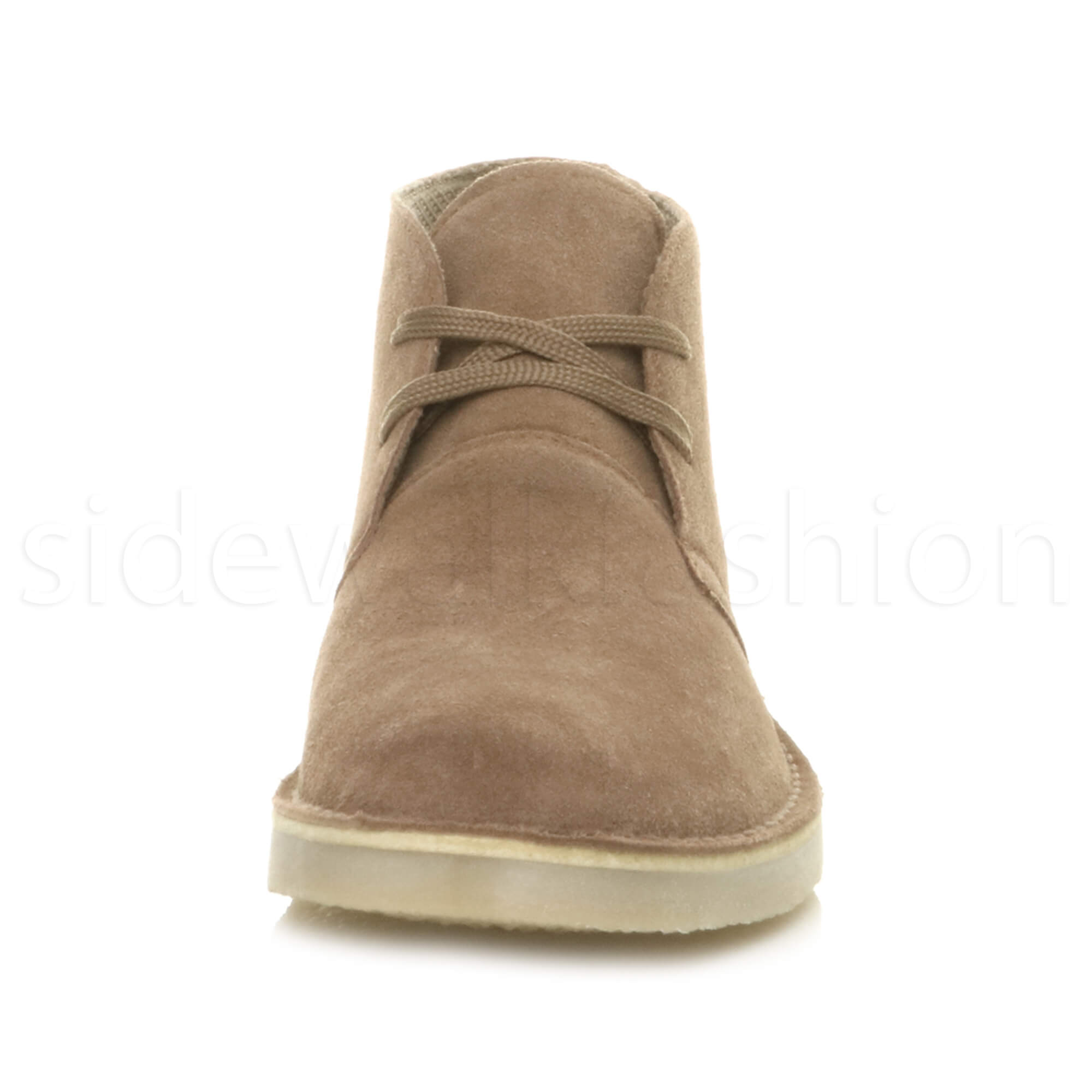 Mens-lace-up-rubber-sole-suede-ankle-chukka-desert-boots-classic-shoes-size thumbnail 35