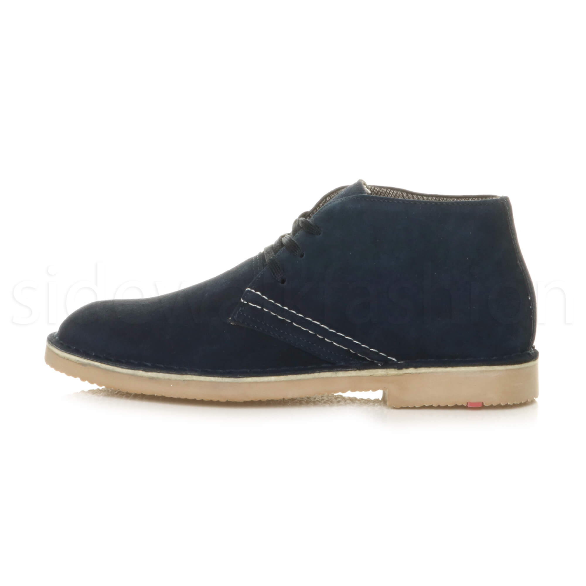 Mens-lace-up-rubber-sole-suede-ankle-chukka-desert-boots-classic-shoes-size thumbnail 25
