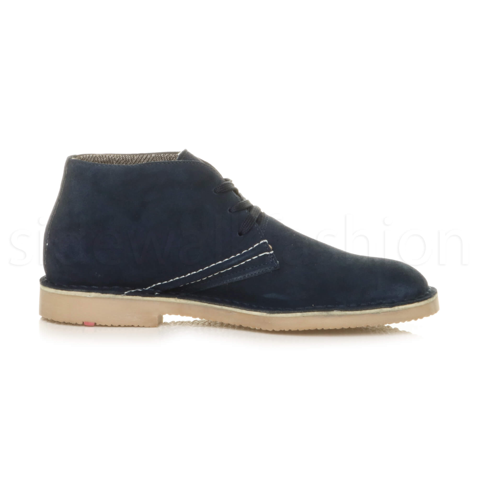 Mens-lace-up-rubber-sole-suede-ankle-chukka-desert-boots-classic-shoes-size thumbnail 26