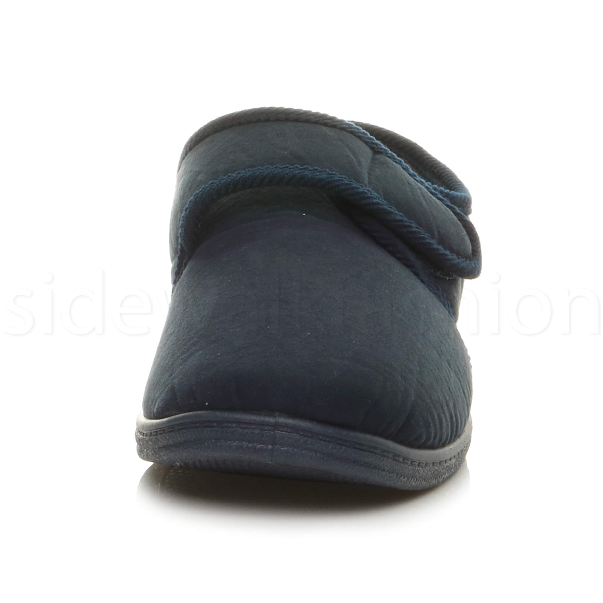 MENS-TOUCH-CLOSE-COMFORT-DIABETIC-ORTHOPAEDIC-SLIPPERS-INDOOR-HOUSE-SHOES-SIZE miniatuur 23