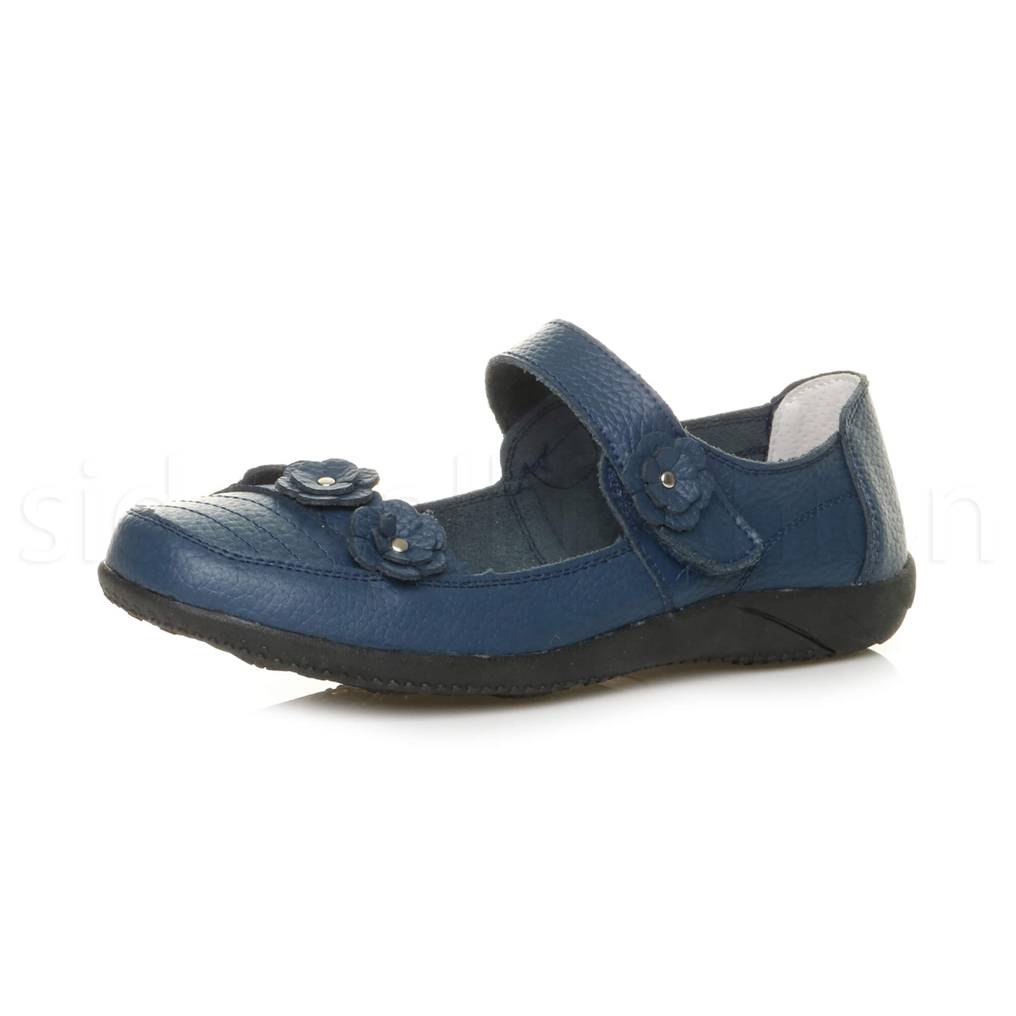 Womens-ladies-leather-comfort-walking-casual-sandals-mary-jane-strap-shoes-size thumbnail 32