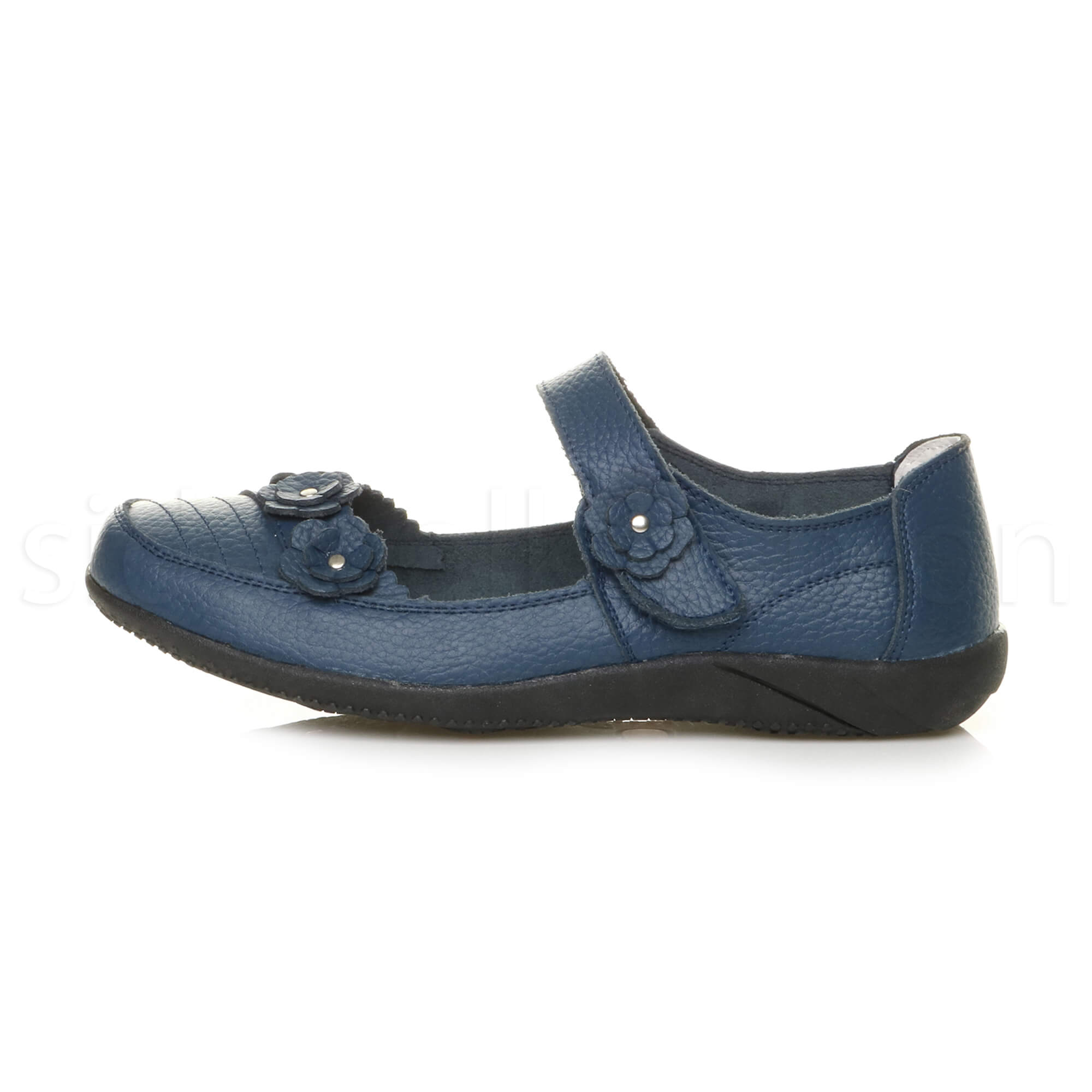 Womens-ladies-leather-comfort-walking-casual-sandals-mary-jane-strap-shoes-size thumbnail 33
