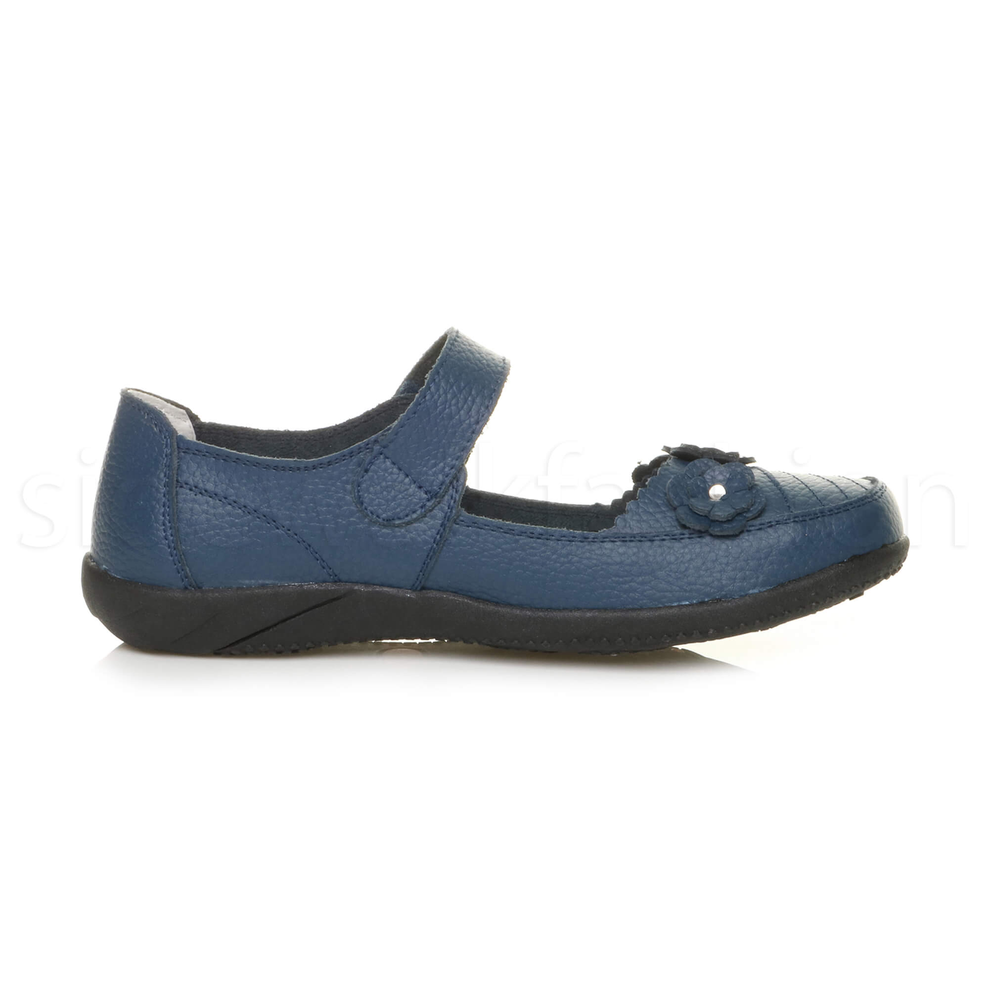 Womens-ladies-leather-comfort-walking-casual-sandals-mary-jane-strap-shoes-size thumbnail 34