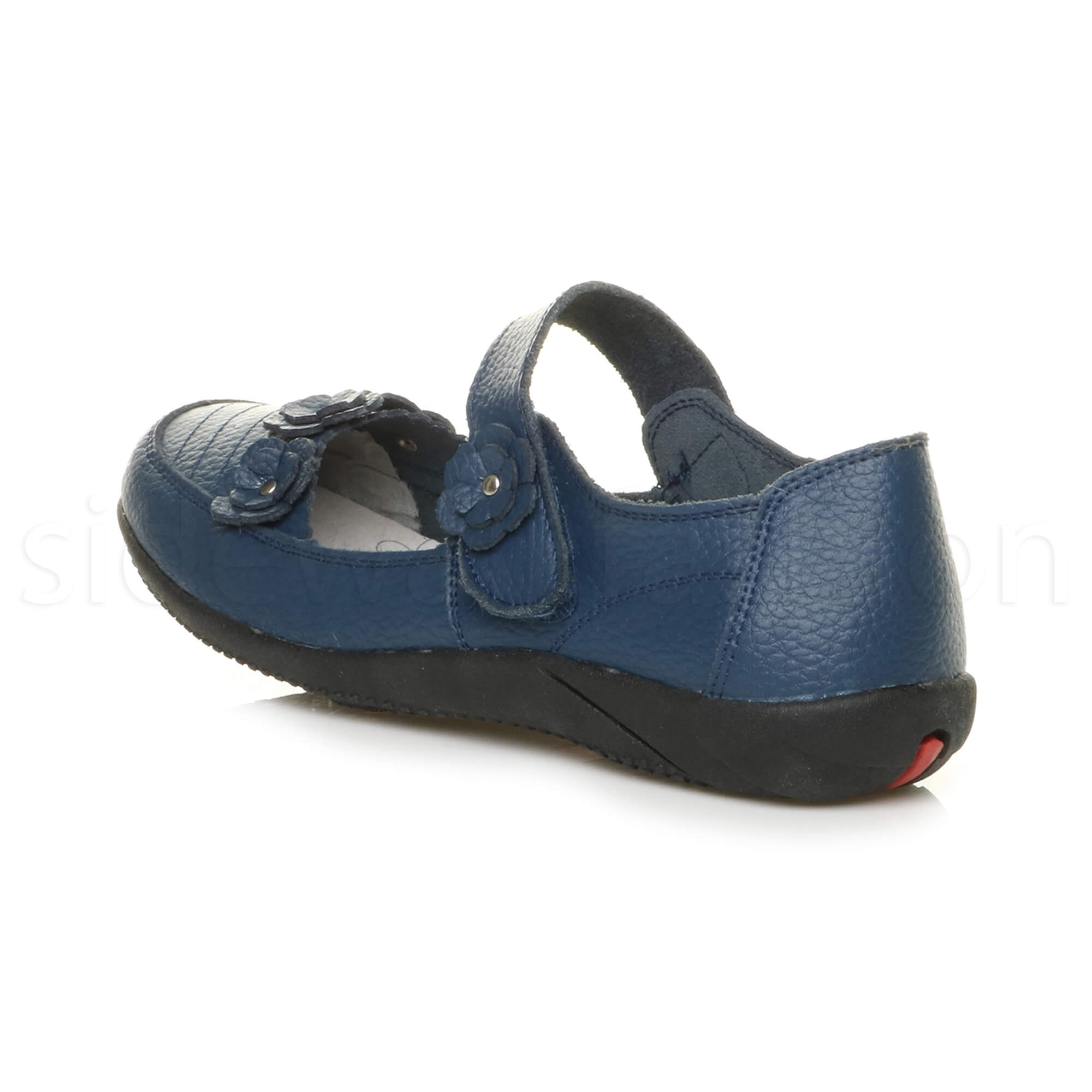 Womens-ladies-leather-comfort-walking-casual-sandals-mary-jane-strap-shoes-size thumbnail 35