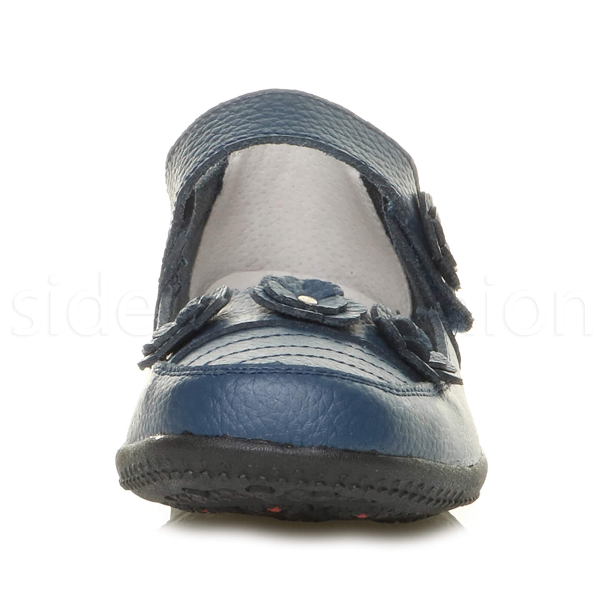 Womens-ladies-leather-comfort-walking-casual-sandals-mary-jane-strap-shoes-size thumbnail 36