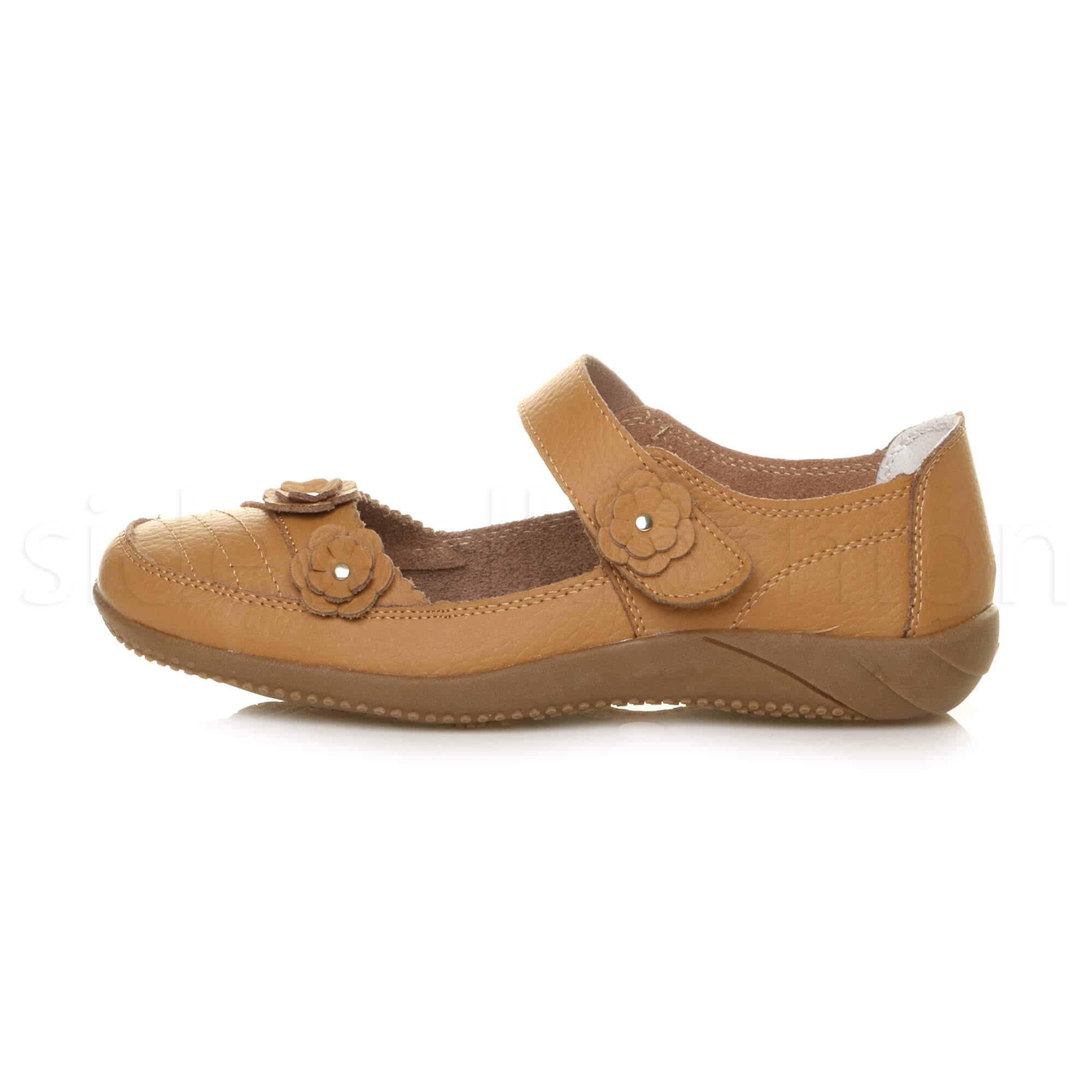 Womens-ladies-leather-comfort-walking-casual-sandals-mary-jane-strap-shoes-size thumbnail 18